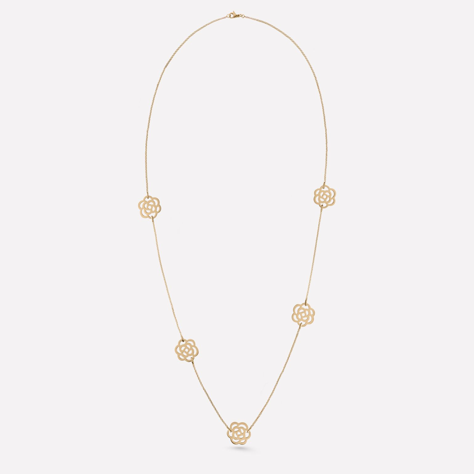 Camélia necklace Camélia Ajouré necklace, in 18K yellow gold and diamonds
