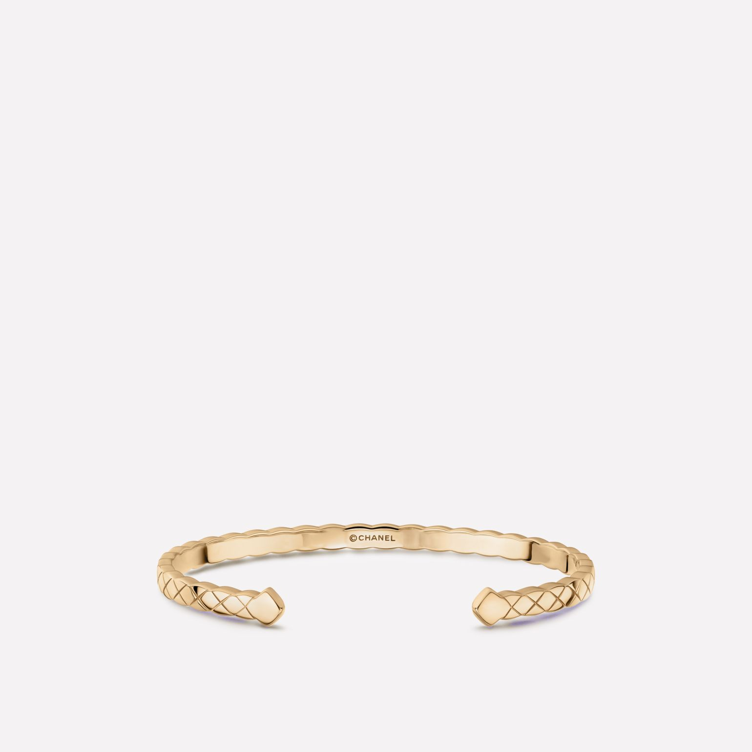 Coco Crush bracelet Quilted motif, 18K BEIGE GOLD