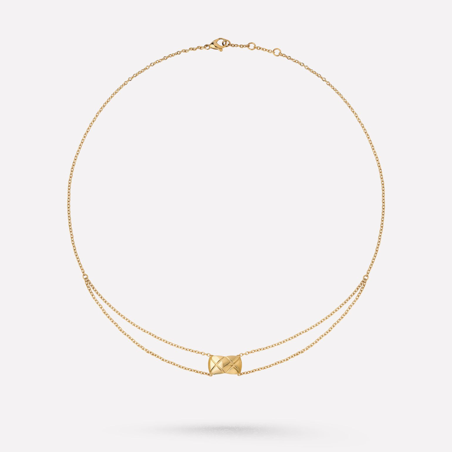 Coco Crush necklace Quilted motif, 18K yellow gold