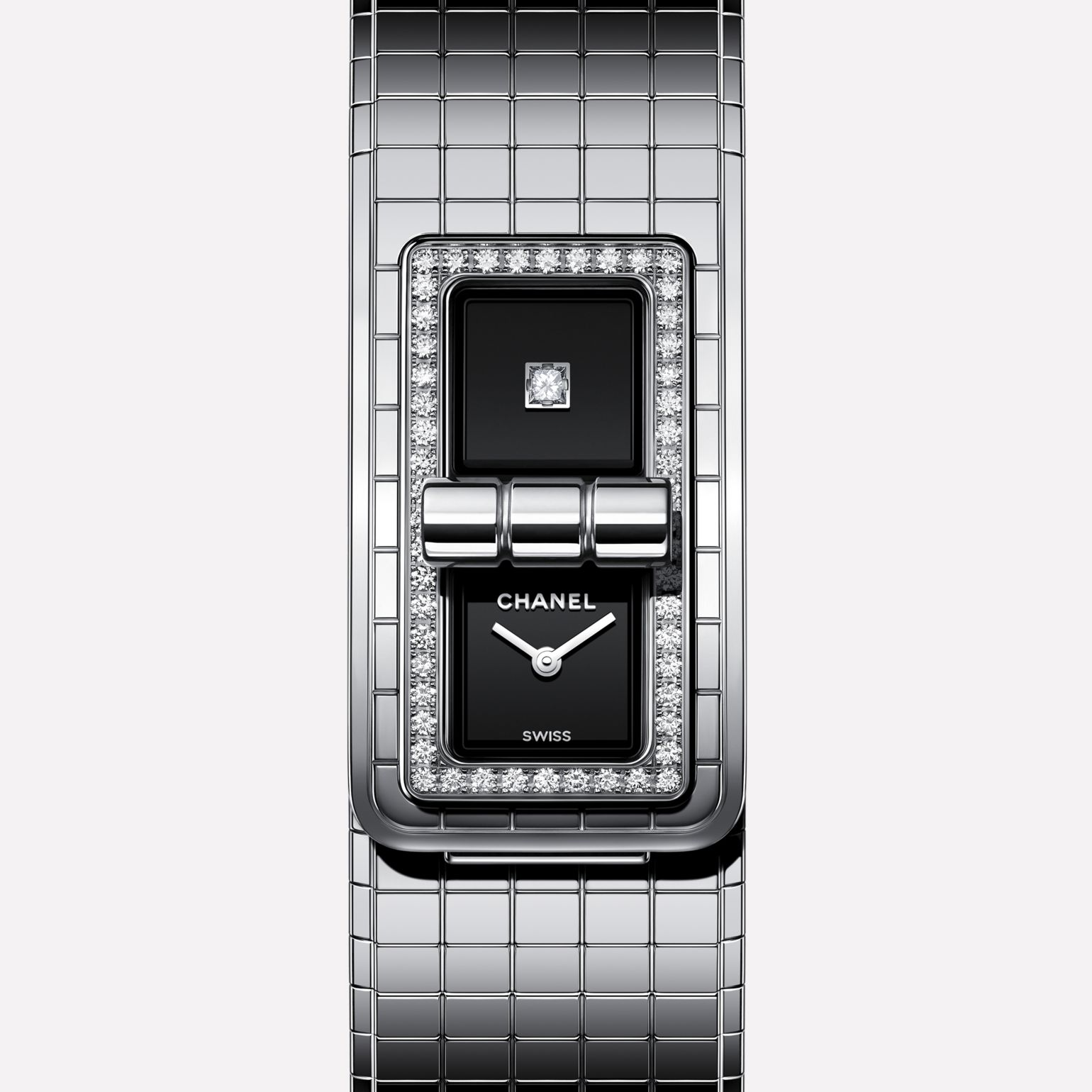 CODE COCO Watch Steel set with diamonds