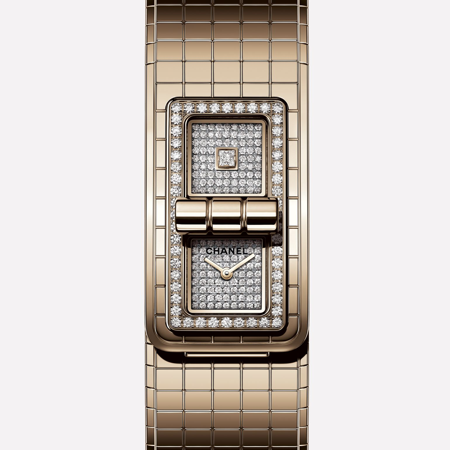 CODE COCO Watch BEIGE GOLD and diamonds