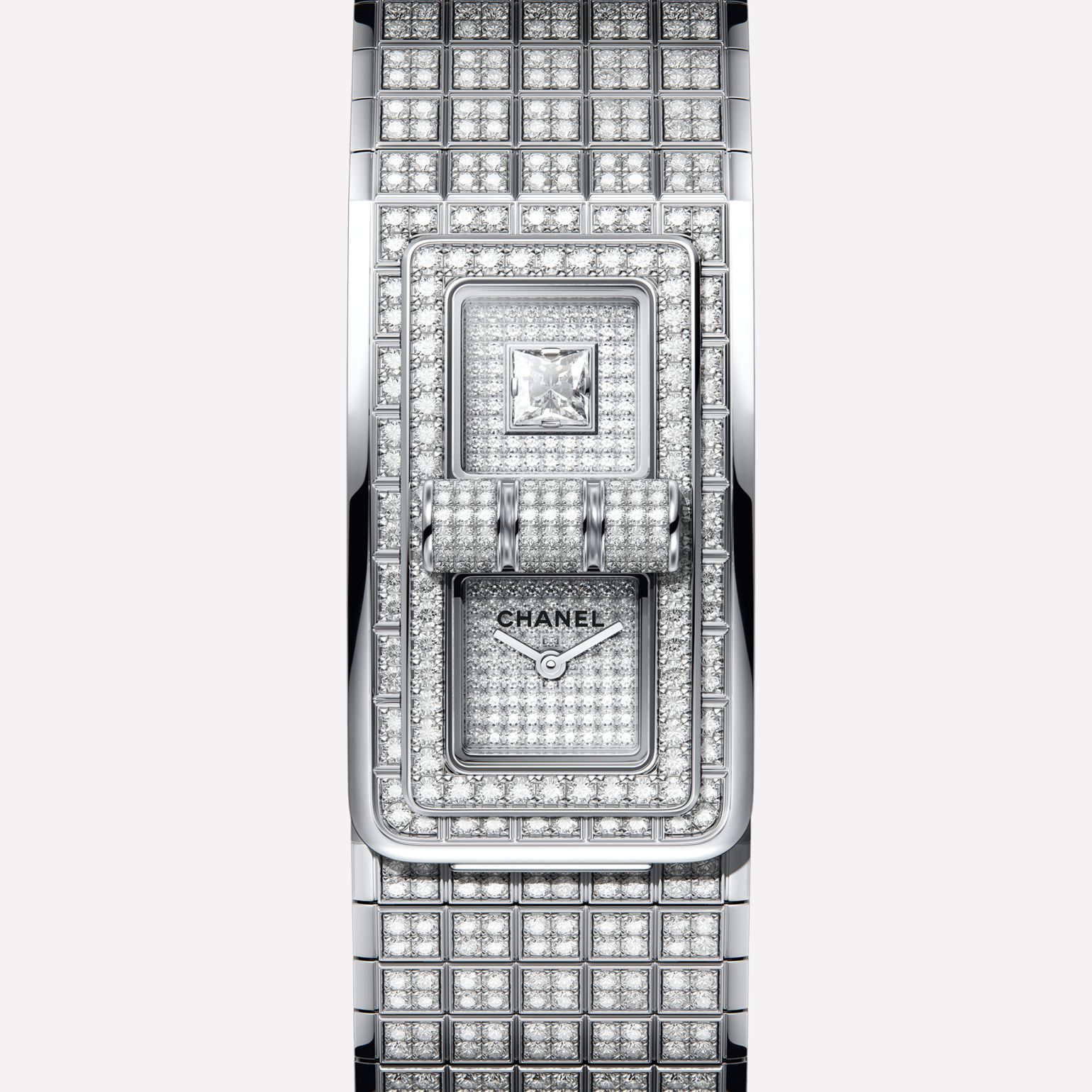CODE COCO Watch 18K white gold set with brilliant-cut diamonds