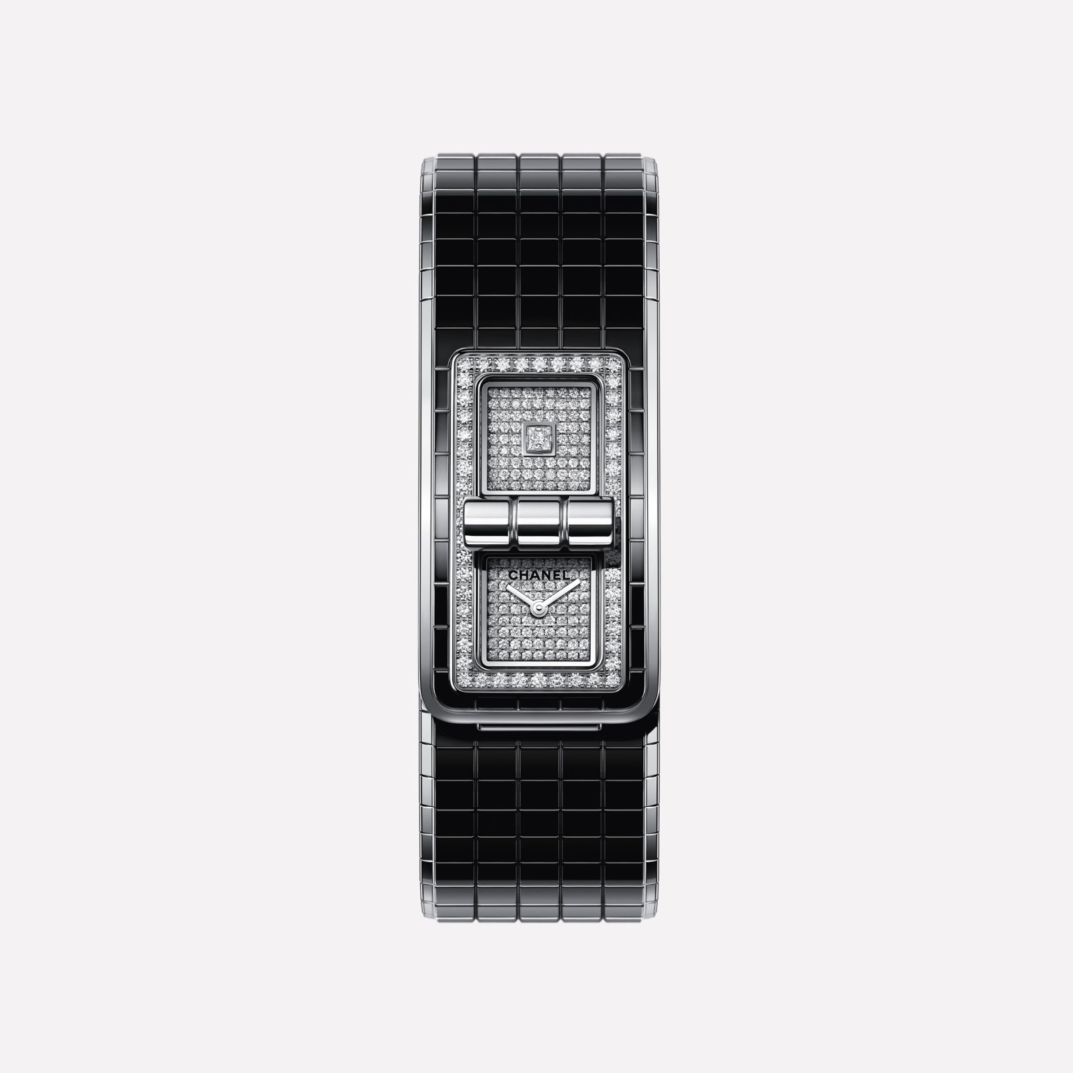 CODE COCO watch Steel, highly-resistant ceramic and diamonds