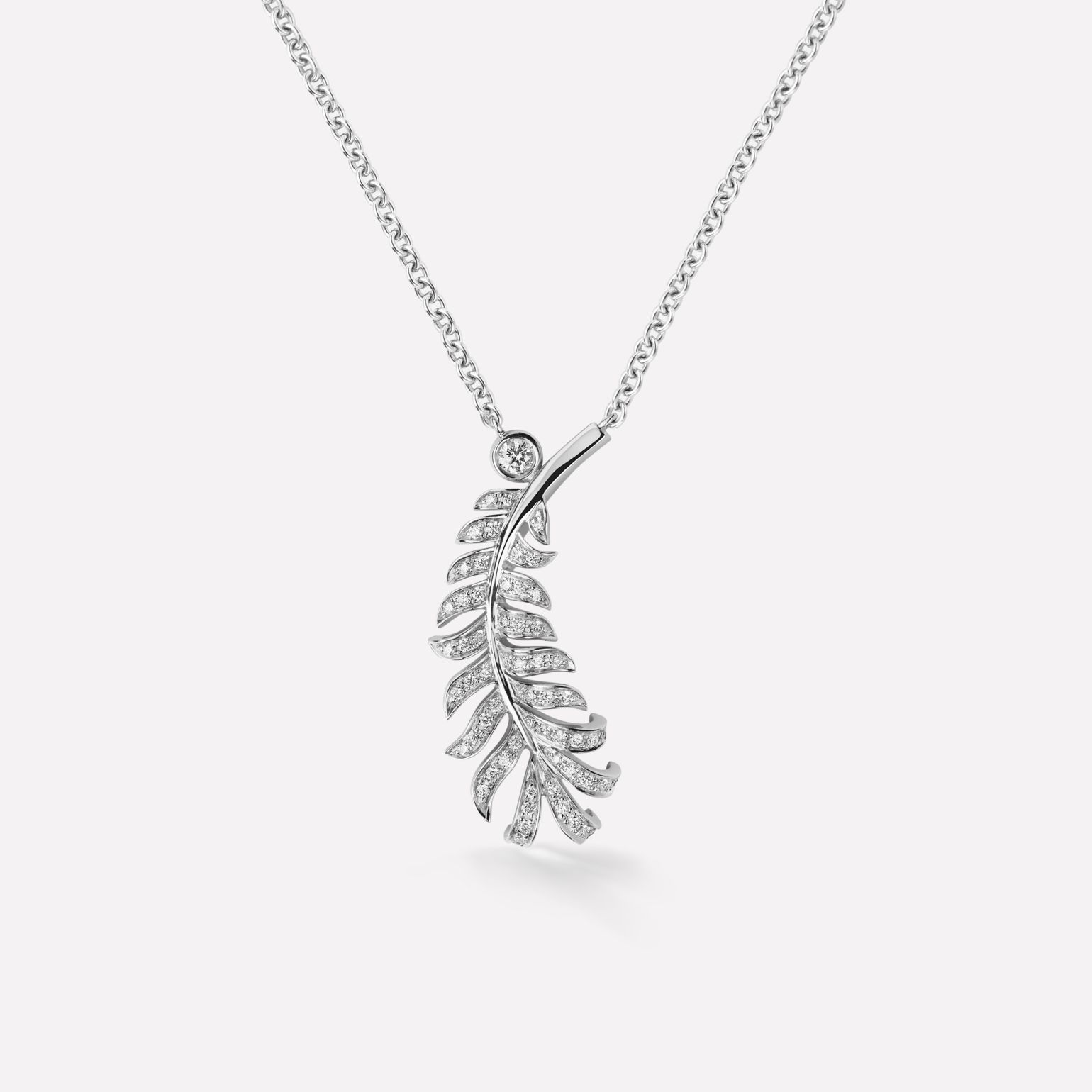 Collier Plume de CHANEL Motif plume en or blanc 18 carats et diamants