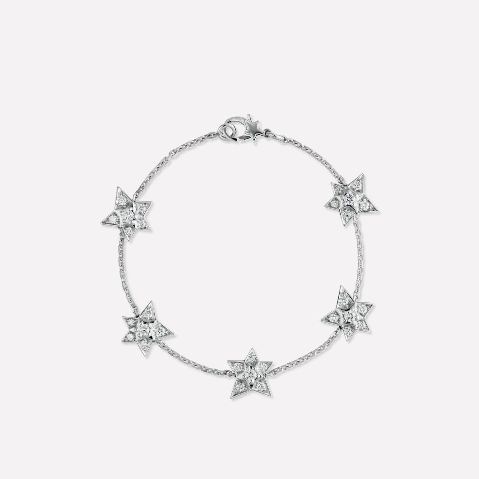 Comète bracelet Five star bracelet in 18K white gold and diamonds