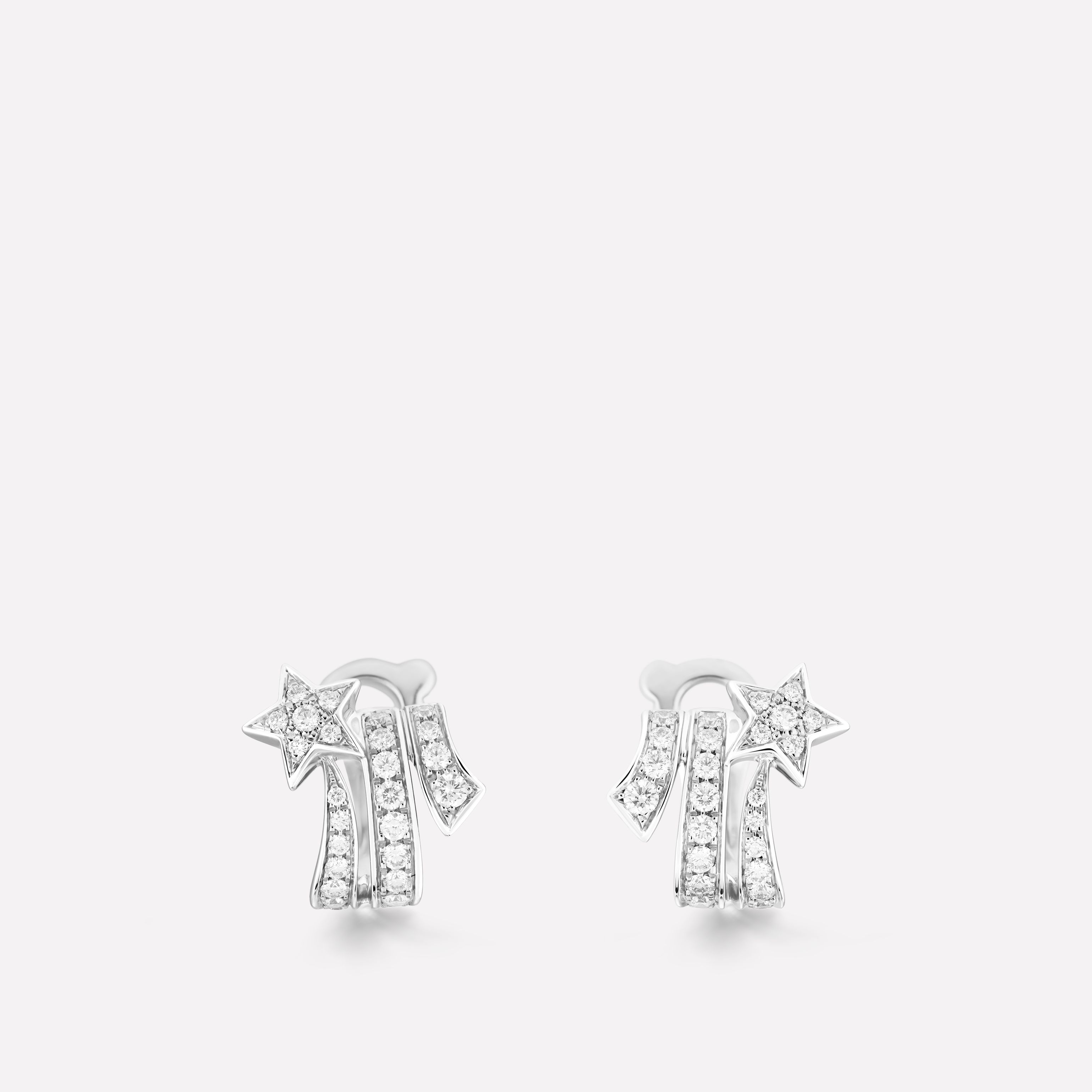 7941281a0 Comète earrings Shooting star earrings in 18K white gold and diamonds