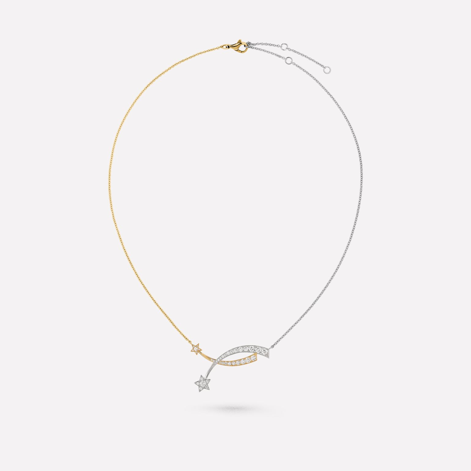 Étoile Filante necklace 18K white and yellow gold, diamonds