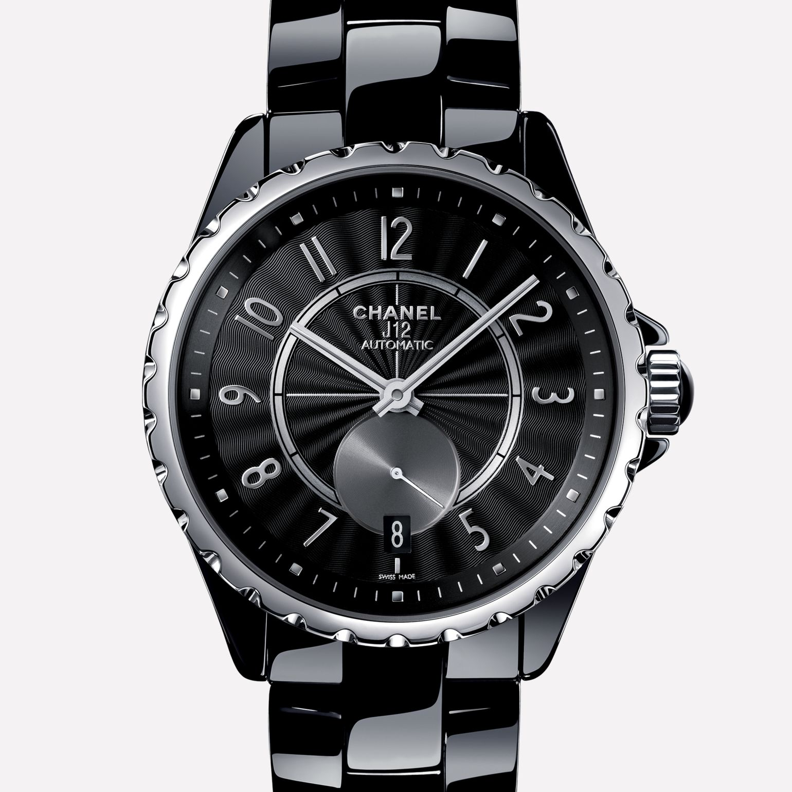 J12-365 Watch Black ceramic and steel