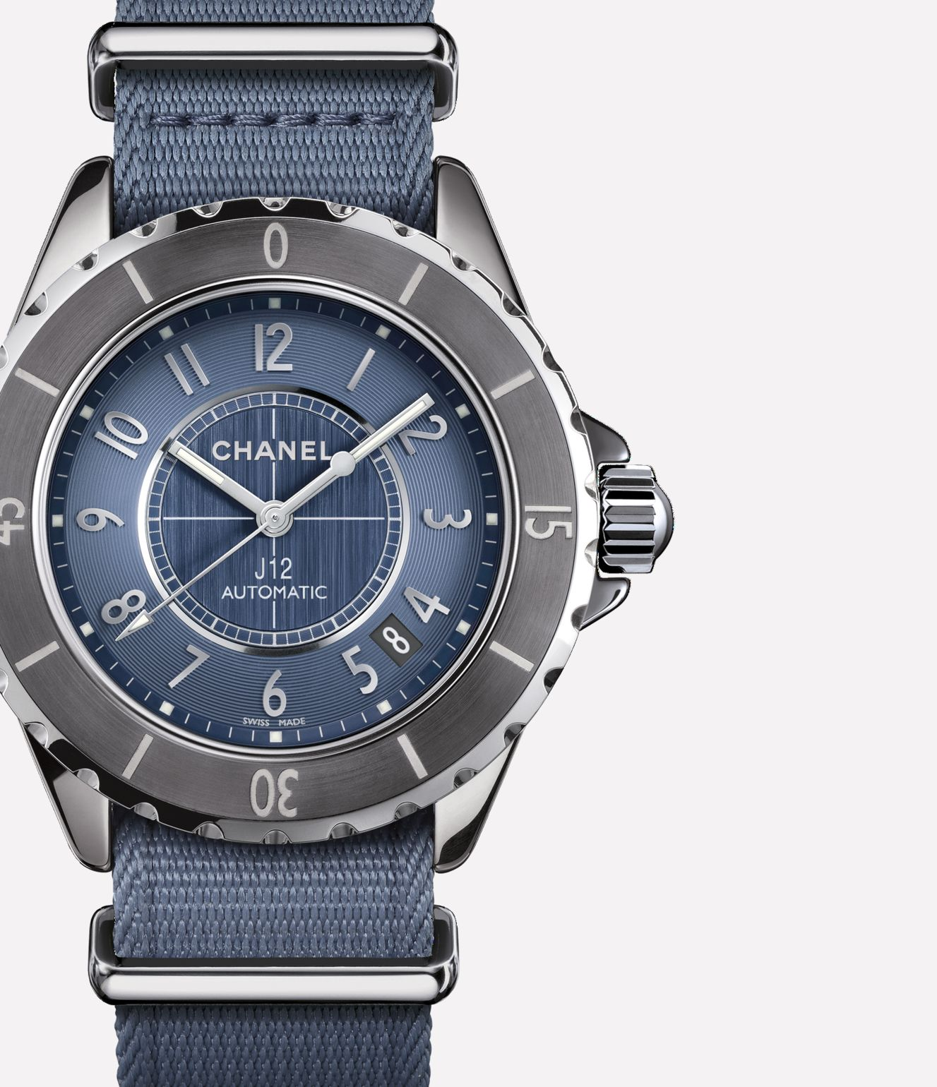 J12-G10 Titanium ceramic and steel, blue dial, blue alligator and blue nylon straps