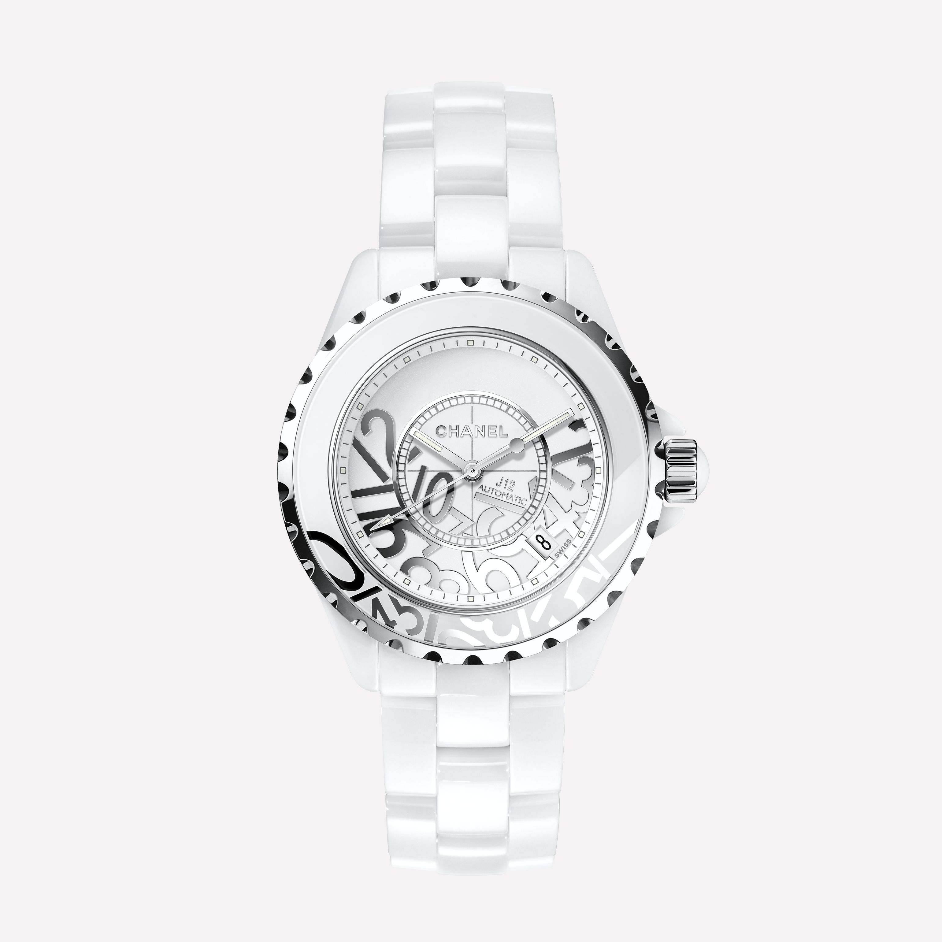474a1eeb9d29f J12 GRAFFITI Watch White highly-resistant ceramic and steel