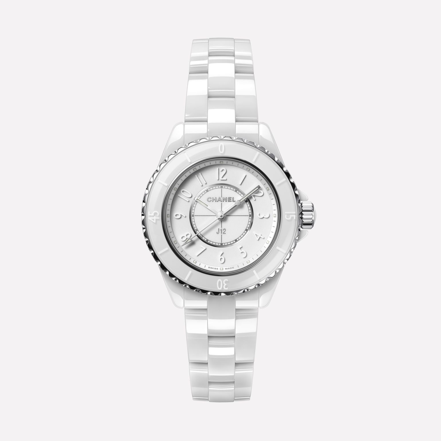 J12 Phantom Watch, 33 mm White highly resistant ceramic and steel