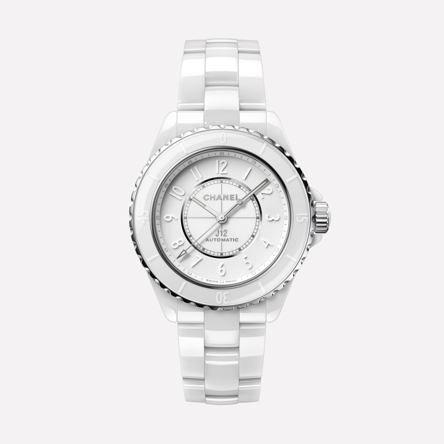 J12 Phantom Watch White highly resistant ceramic and steel