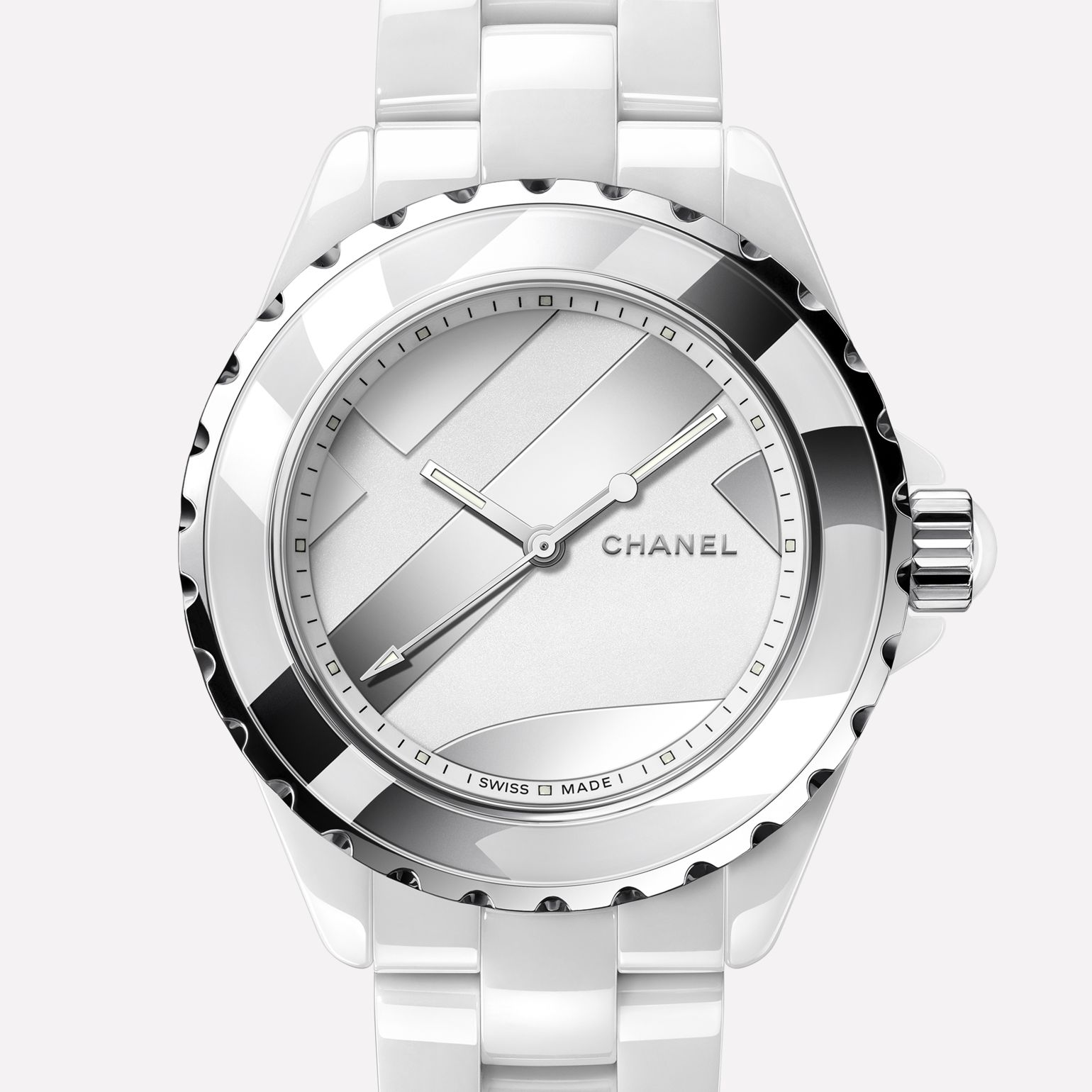 quartz swiss watches ceramic watch image chanel collection ref white