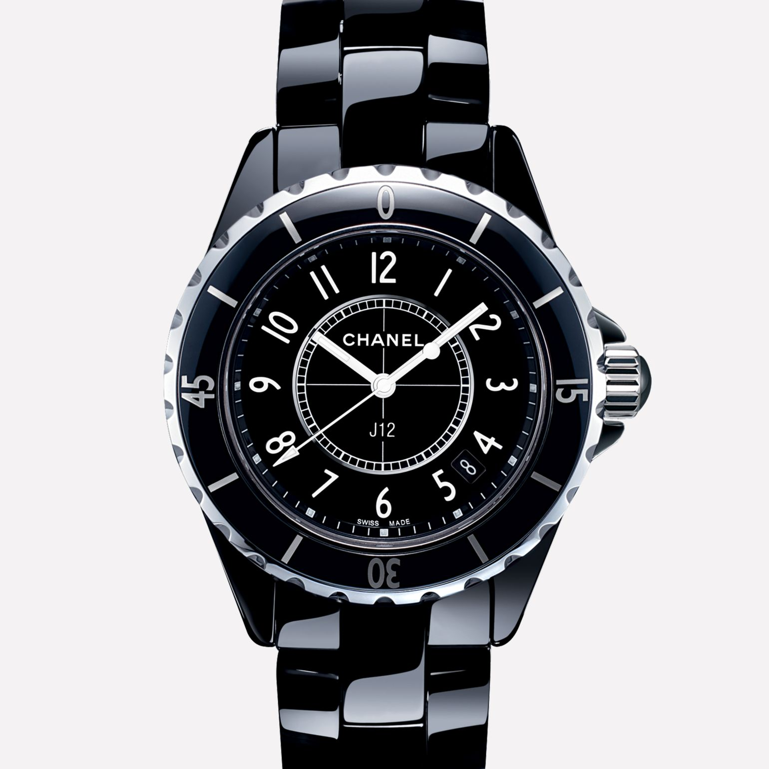 J12 Watch Black ceramic and steel