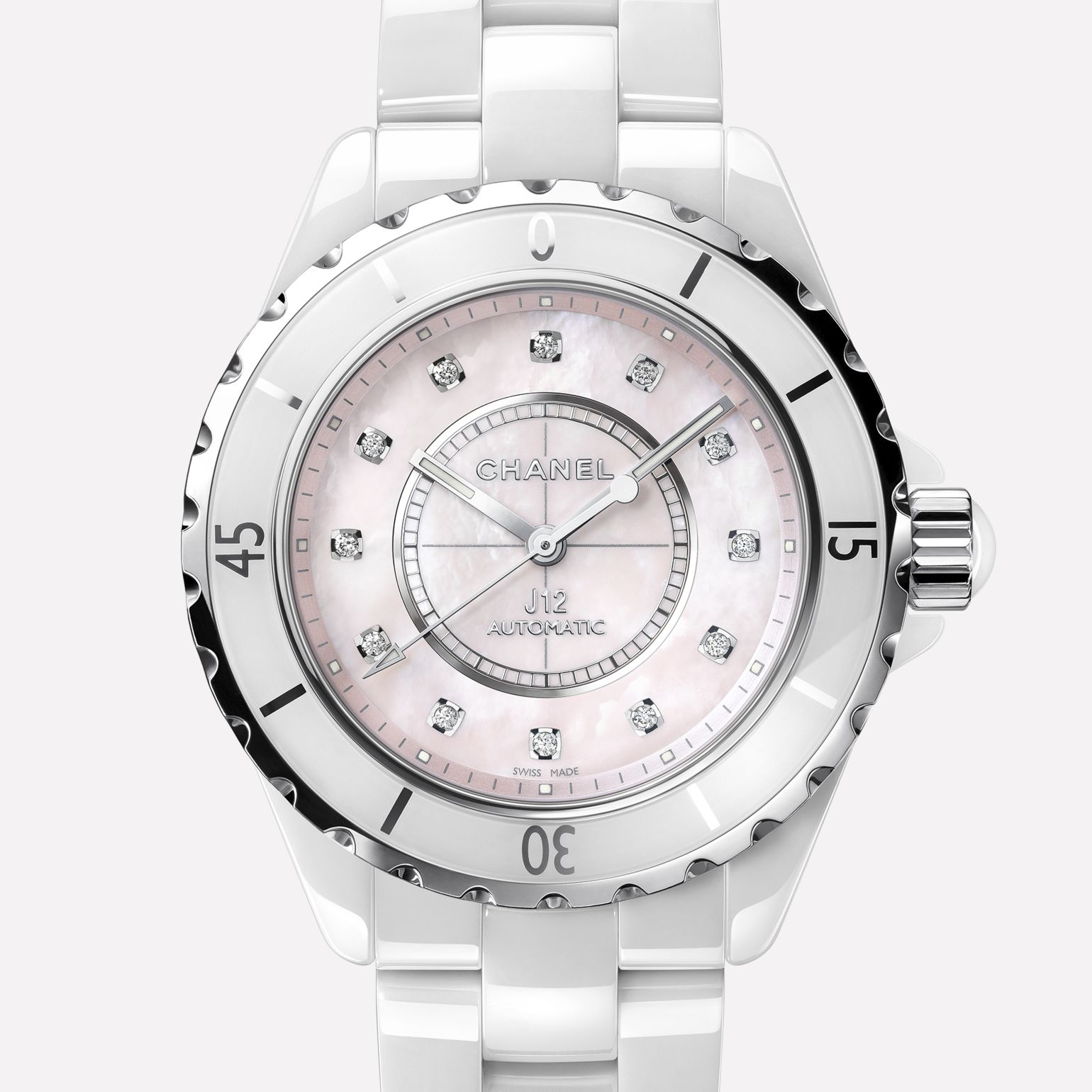 white ceramic watch pin pinterest chanel watches bejeweled