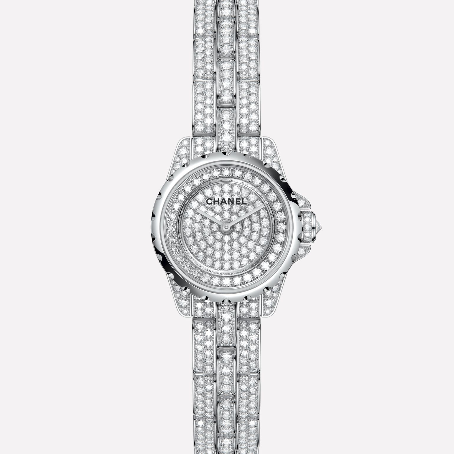 J12·XS High Jewelry Watch White gold, case, dial, bezel, and bracelet set with brilliant-cut diamonds