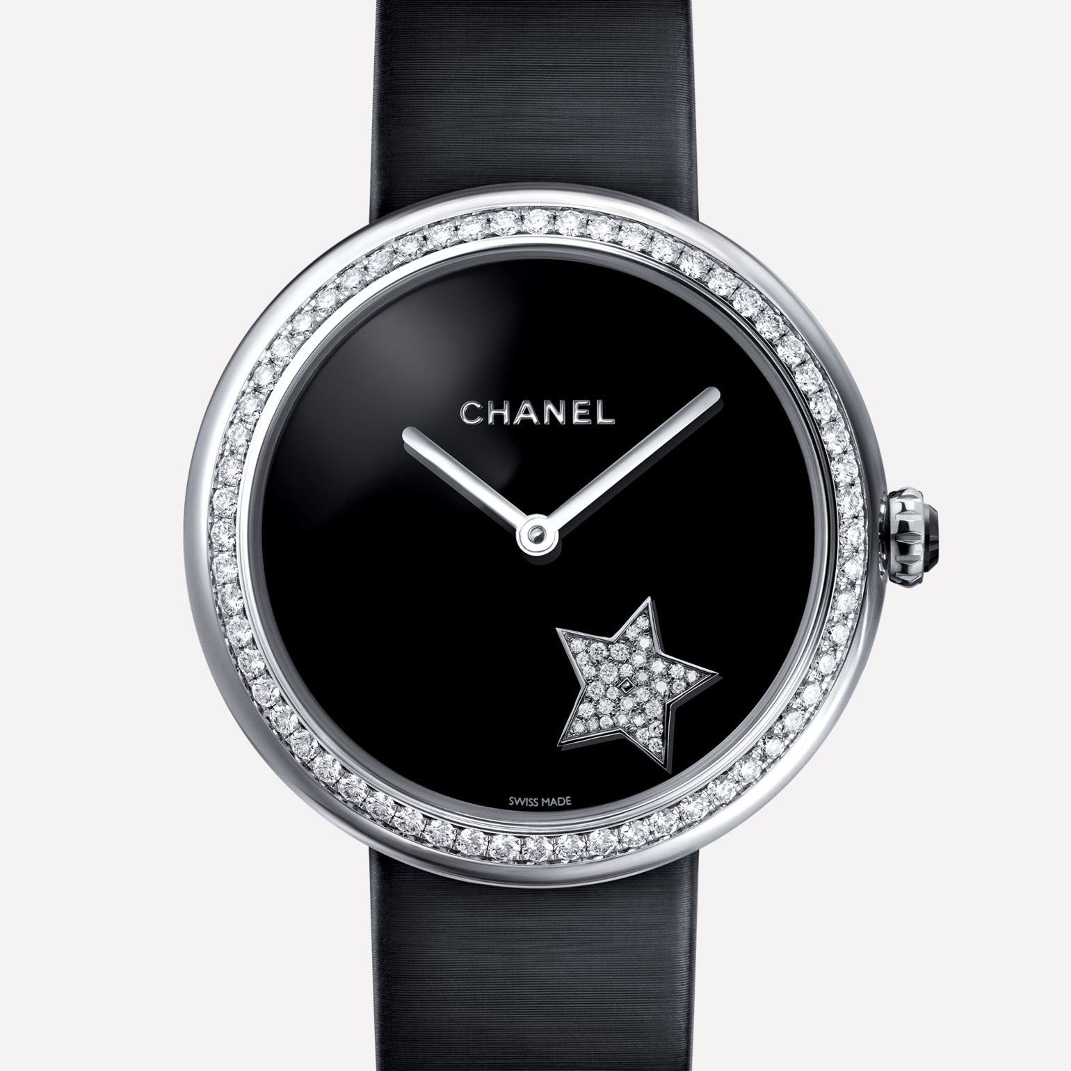Mademoiselle Privé Watch Whirling comet set with diamonds