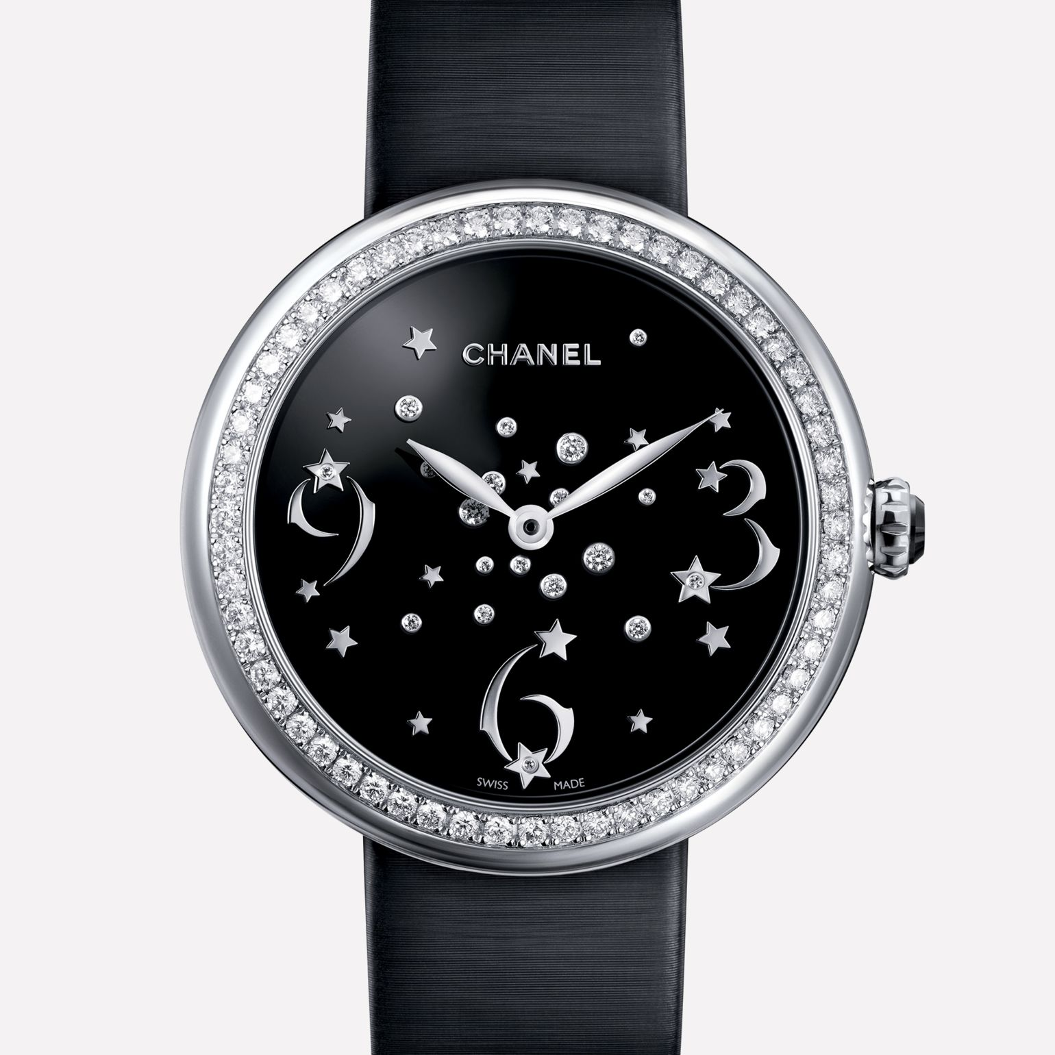 Mademoiselle Privé Watch Numbers, comets, and diamonds