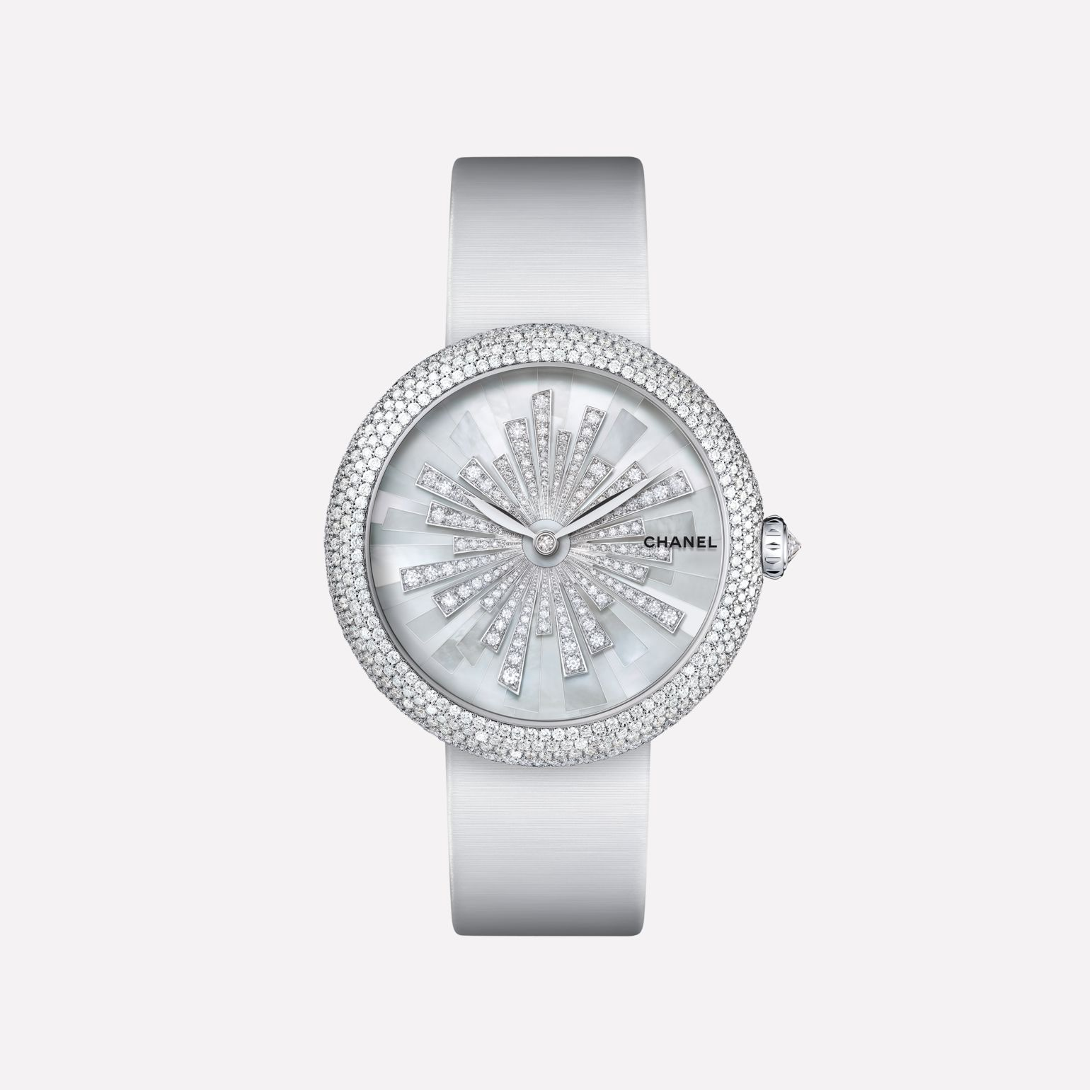 Mademoiselle Privé Watch Bijoux de Diamants Soleil jewelry - Pearl marquetry and diamonds