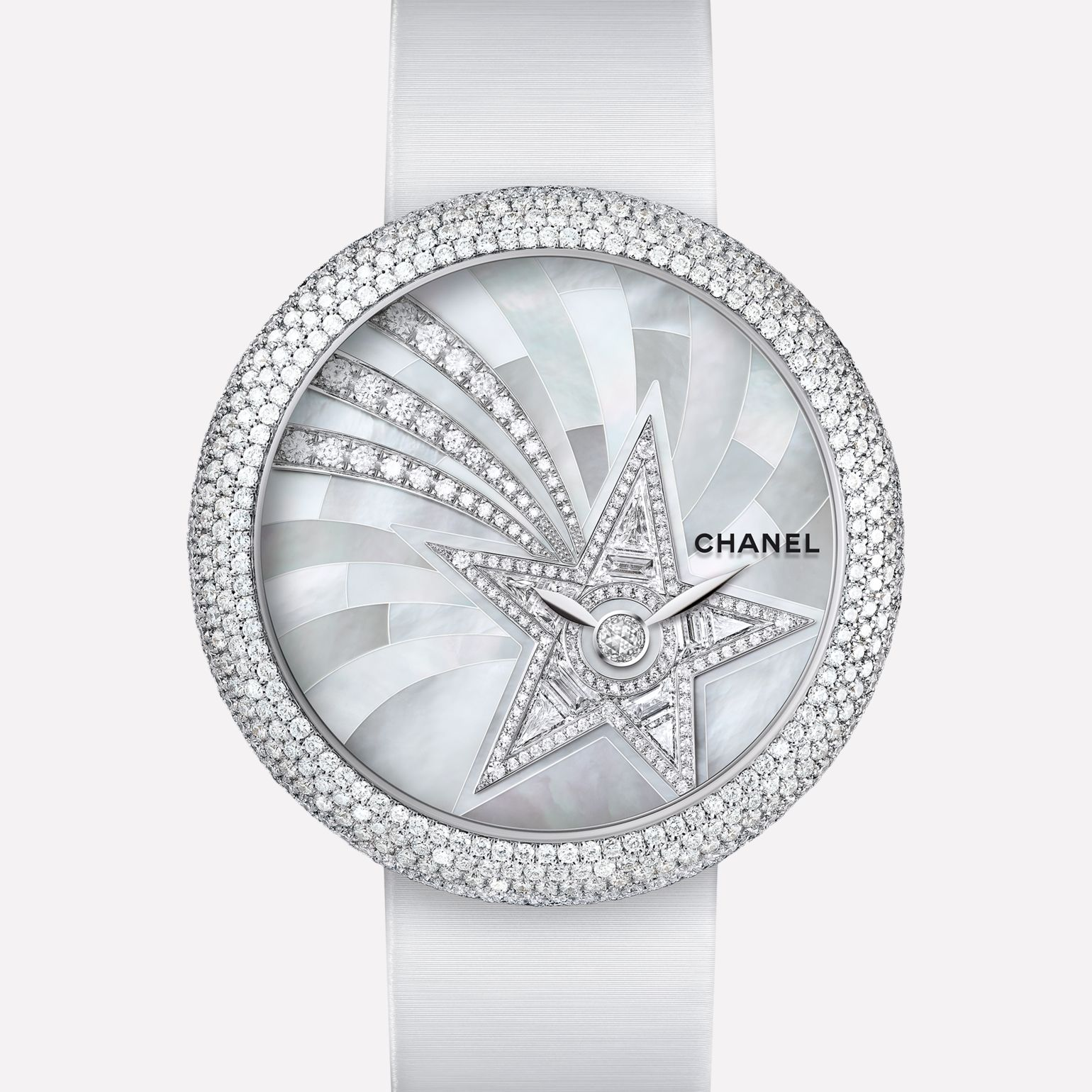 Mademoiselle Privé Watch Bijoux de Diamants Comète jewelry - Pearl marquetry and diamonds