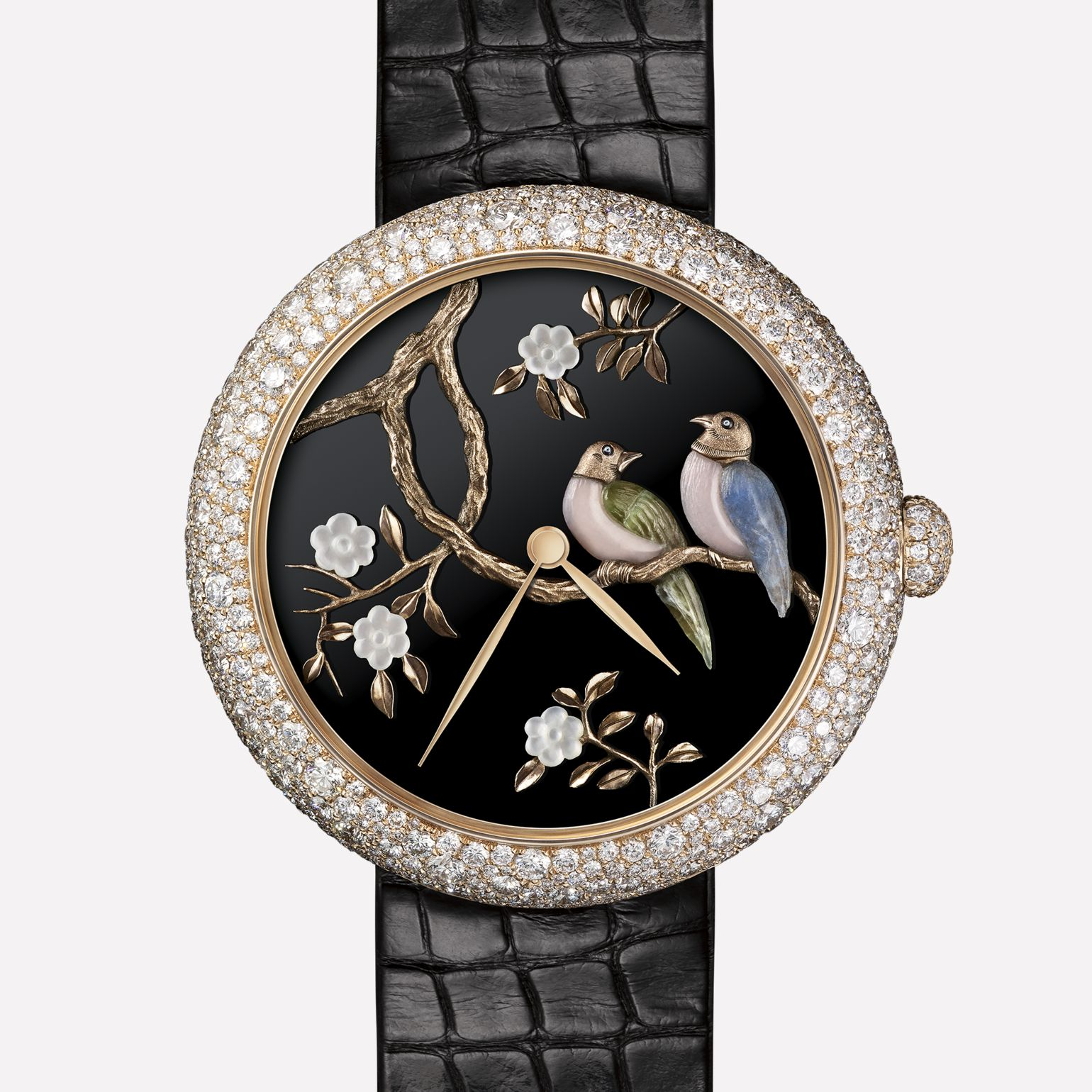 Mademoiselle Privé Watch Coromandel Flying Bird created using the glyptic technique