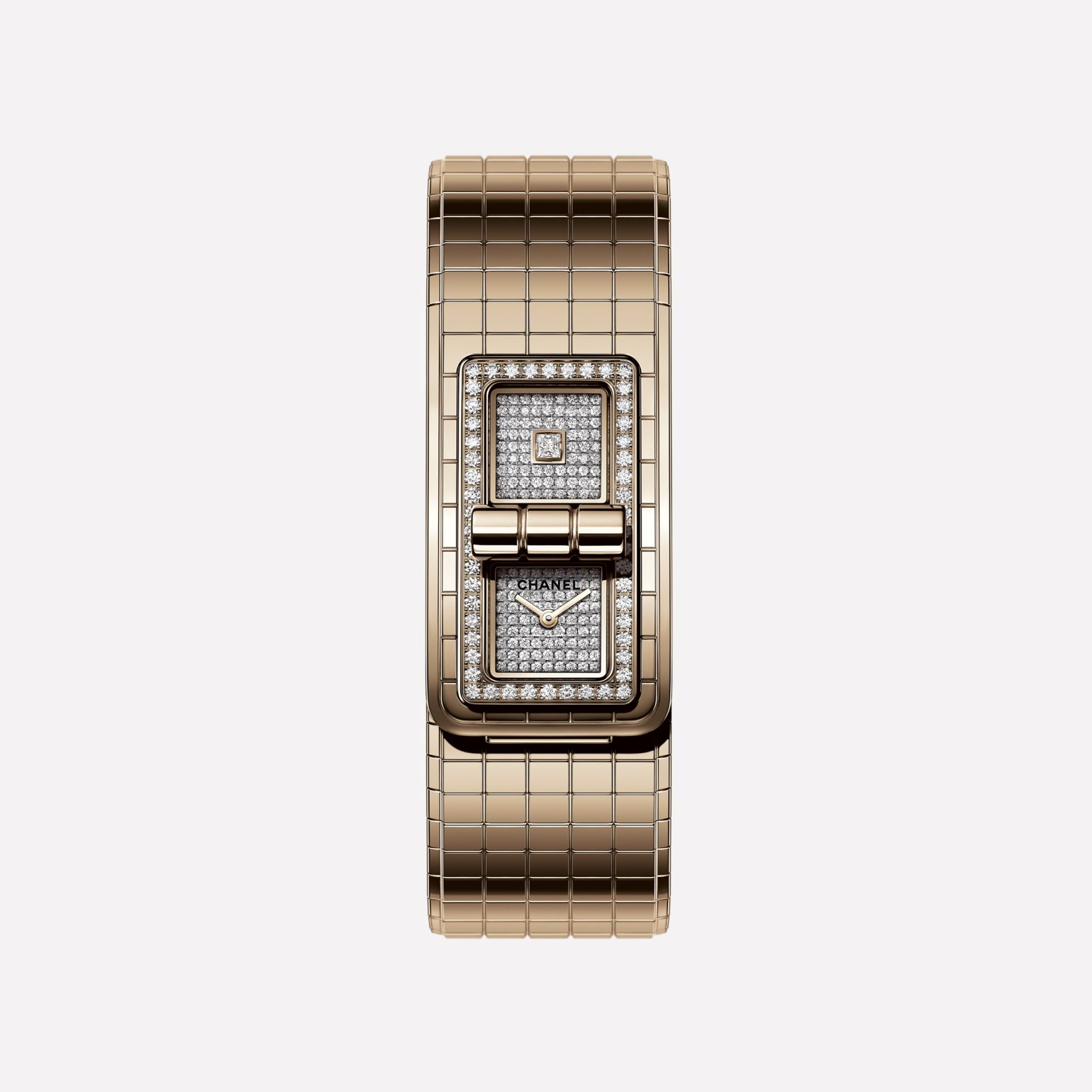 Montre CODE COCO OR BEIGE et diamants