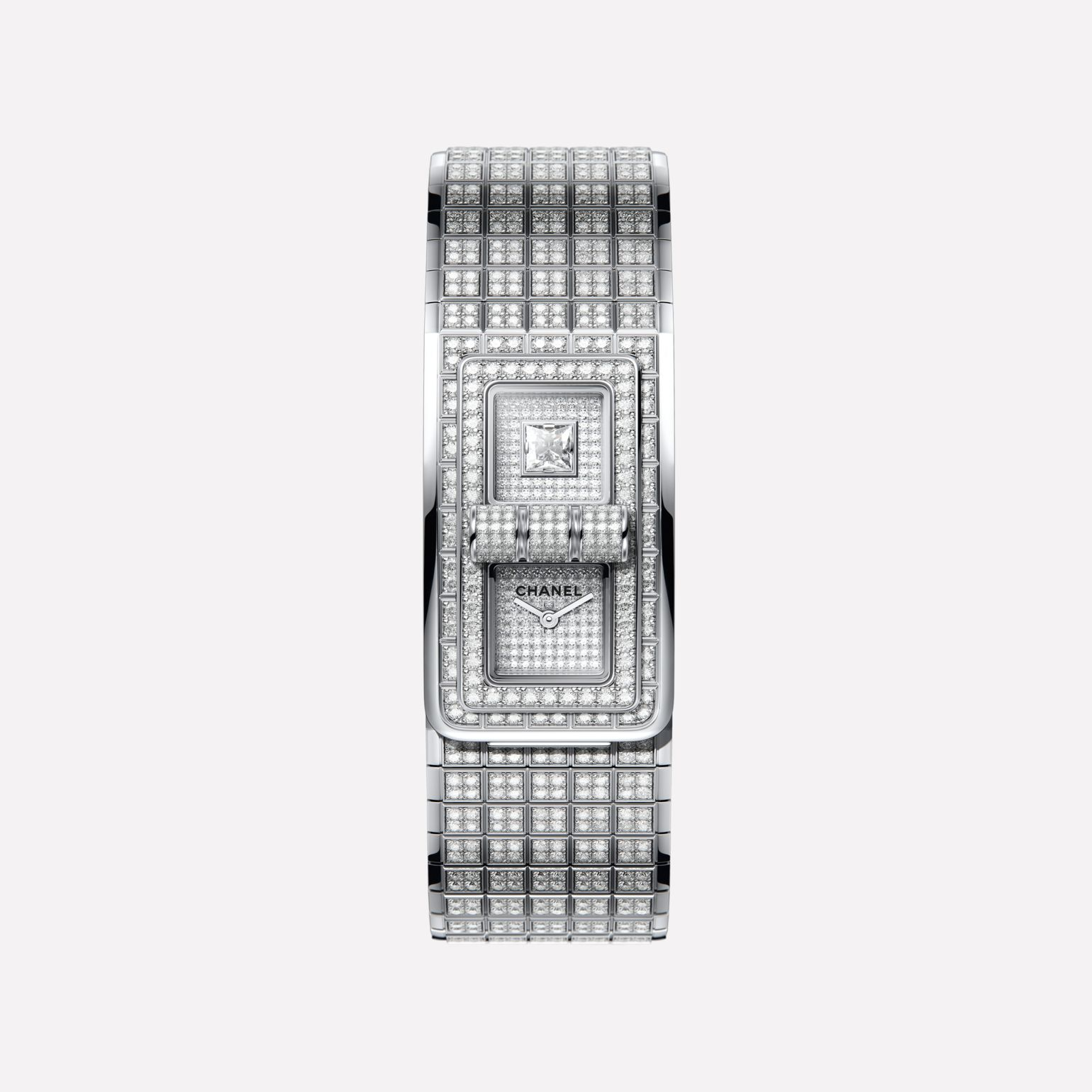 MONTRE CODE COCO Or blanc 18 carats serti de diamants taille brillant