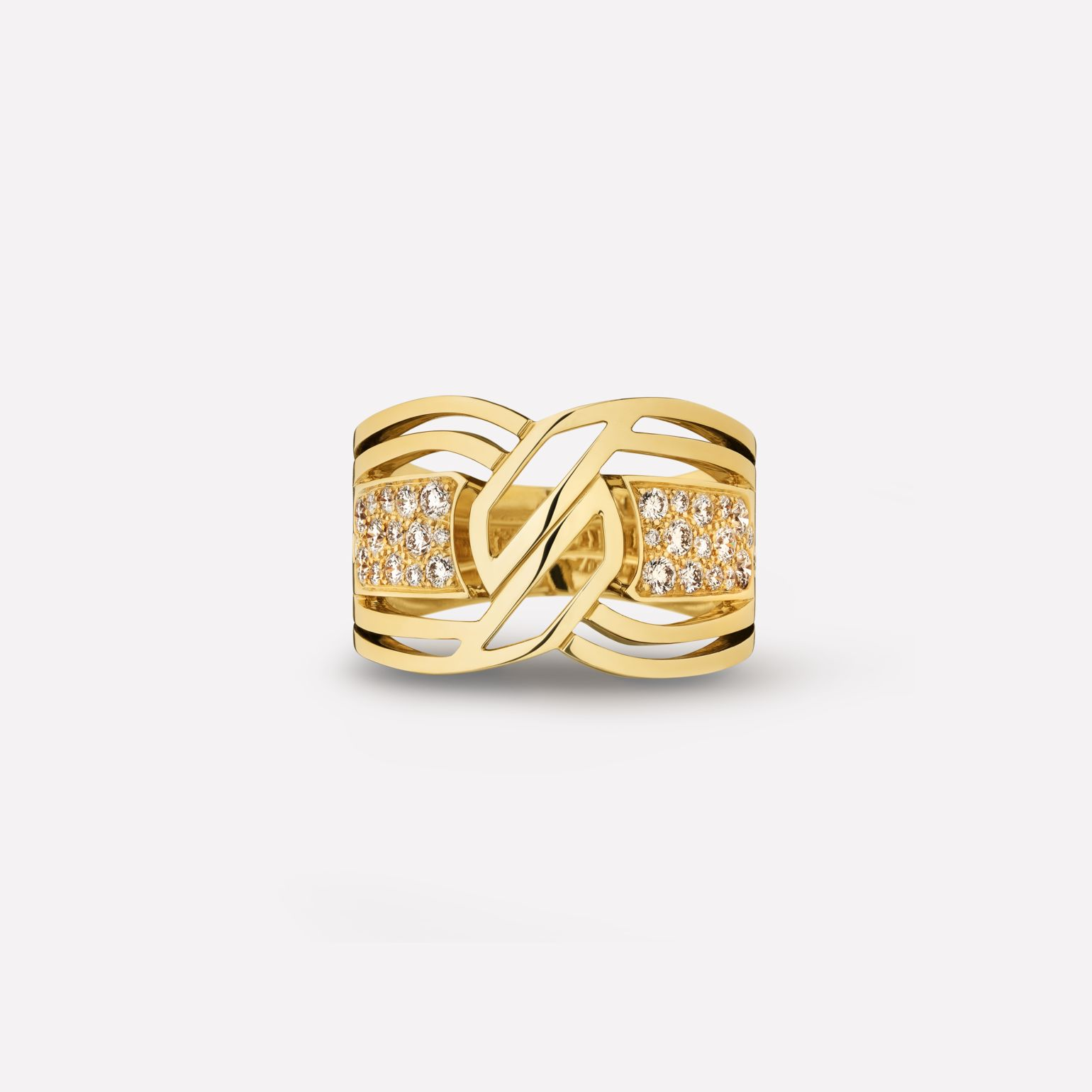 My Golden Link ring 18K yellow gold and diamonds