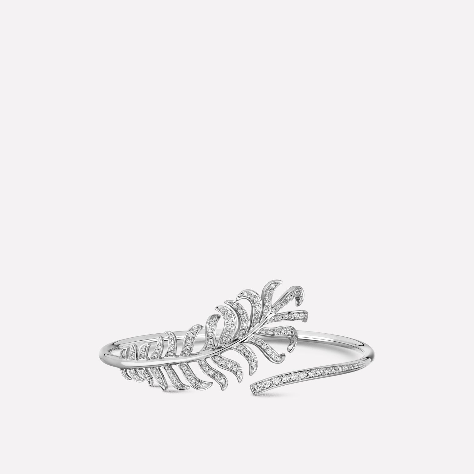 Plume de CHANEL bracelet 18K white gold, diamonds