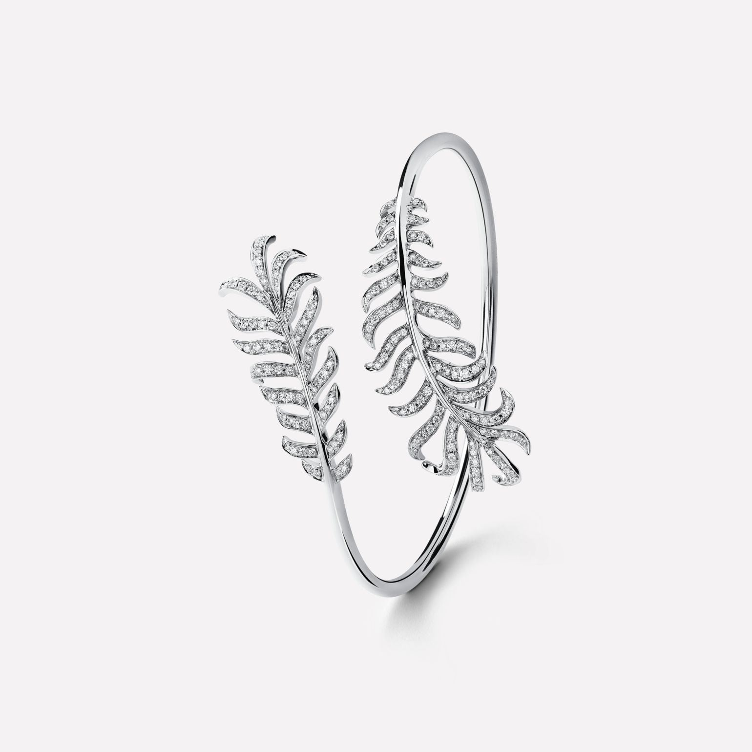Plume de CHANEL Bracelet Double Plume bracelet in 18K white gold and diamonds