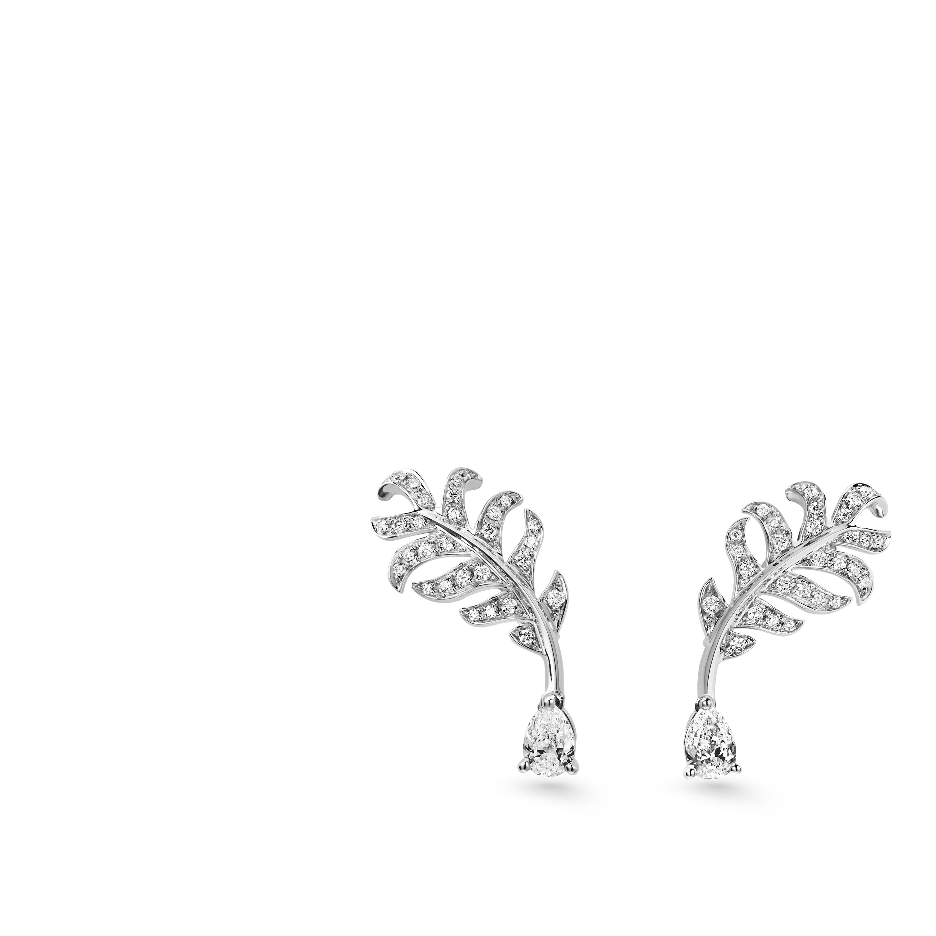 Name Plume De Chanel Earrings Reference J10816 Collection Category Materials White Golddiamond
