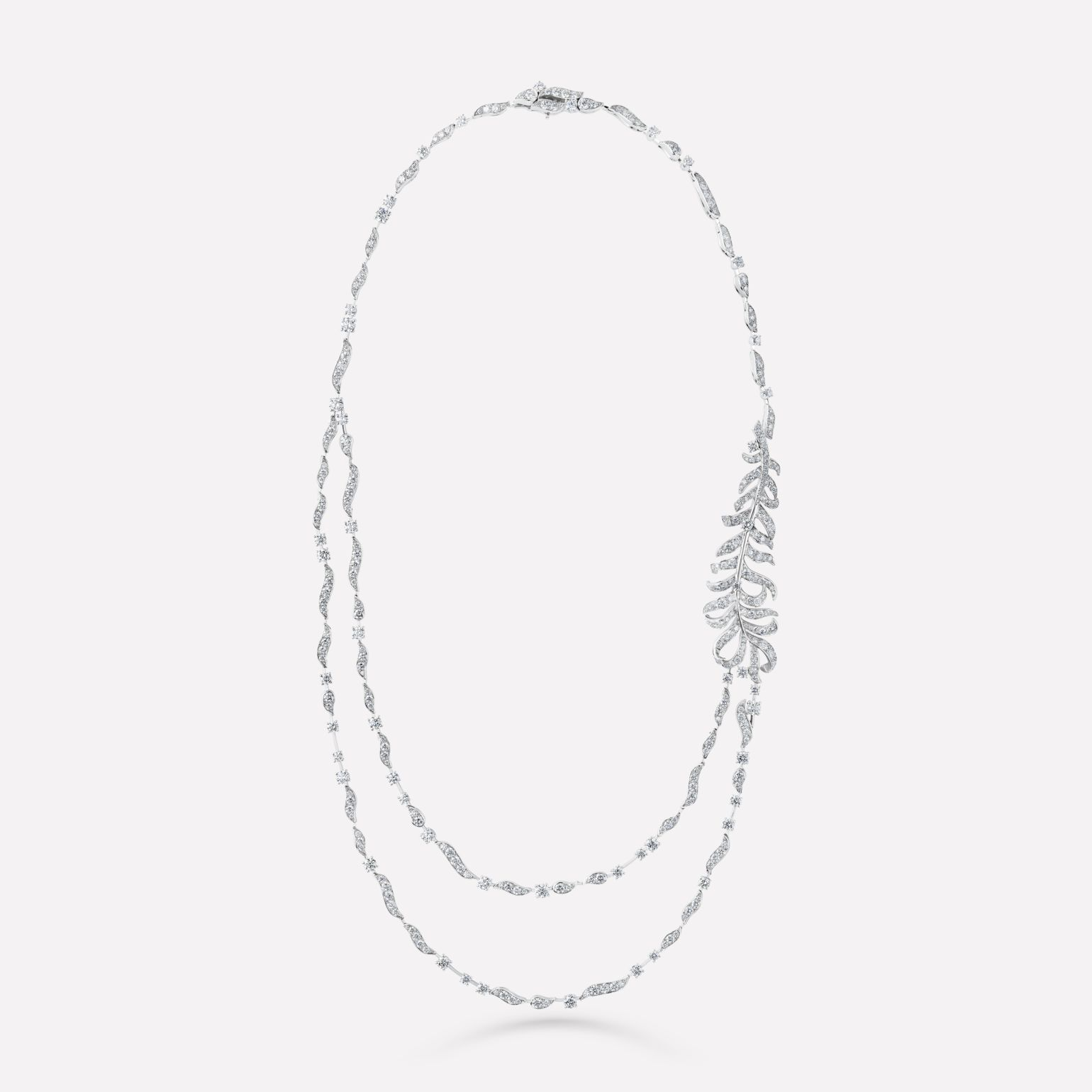 Plume de CHANEL Necklace Plume sautoir in 18K white gold and diamonds