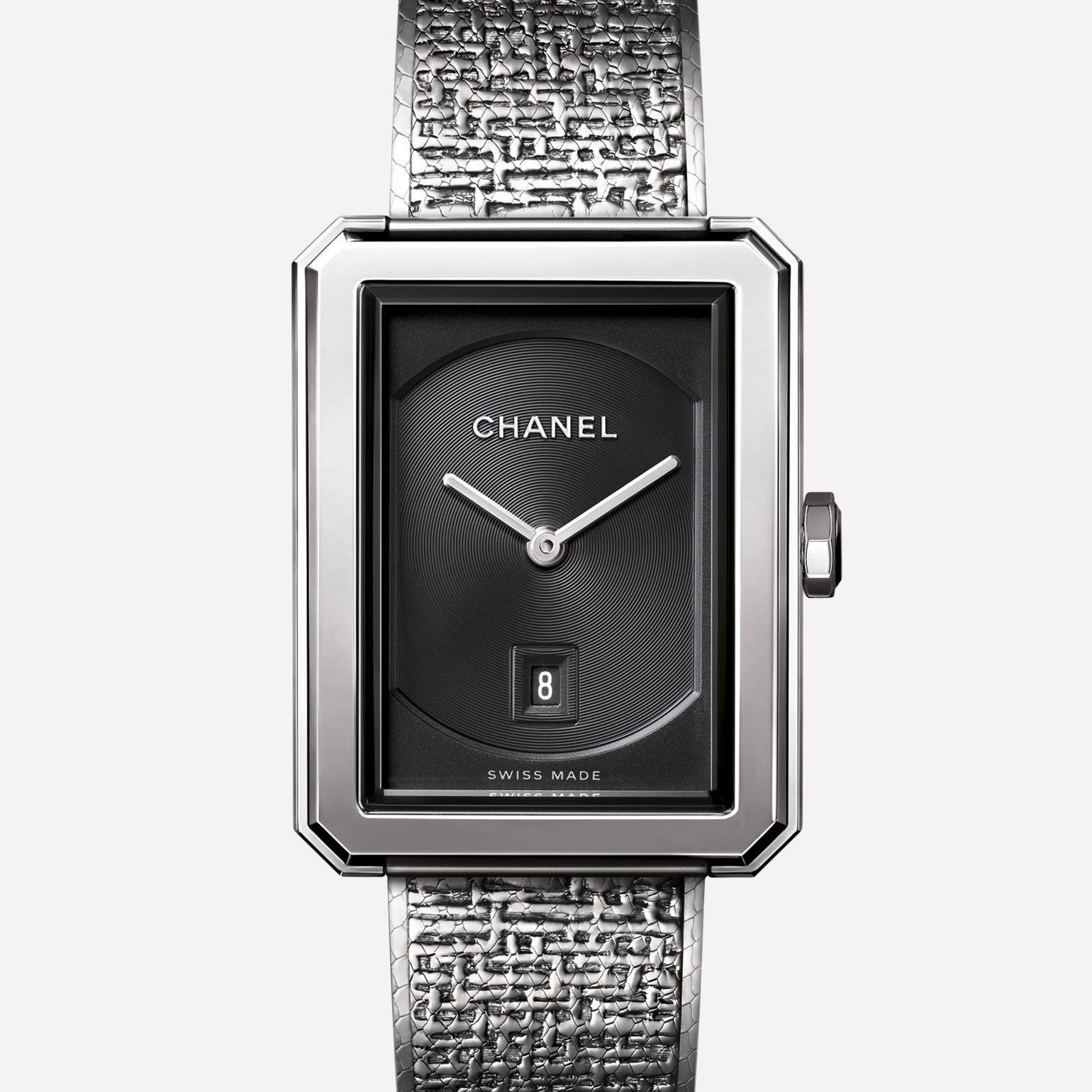 PREMIÈRE∙BOY DE CHANEL TWEED Medium version, steel