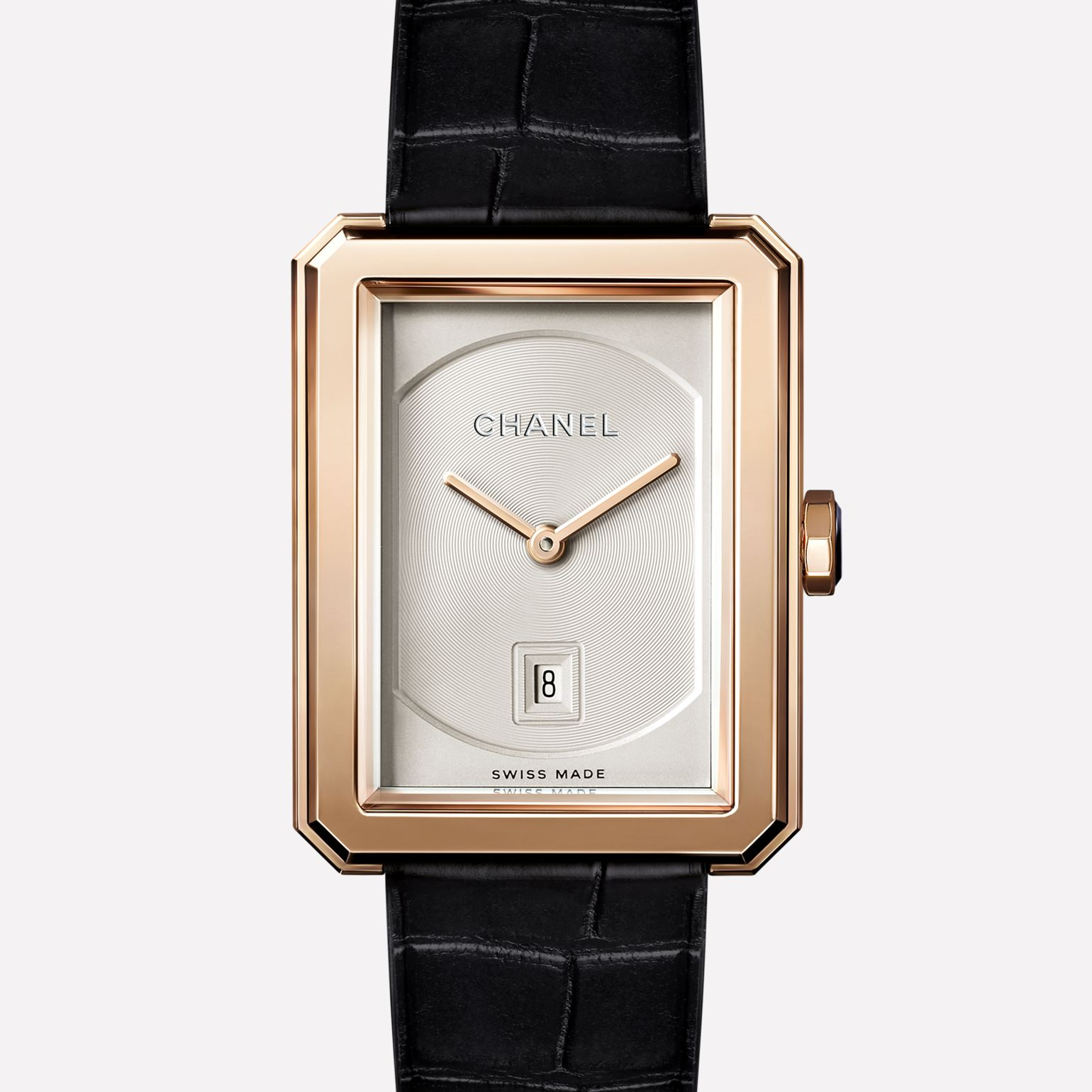 PREMIÈRE∙BOY DE CHANEL Medium version, BEIGE GOLD and alligator strap