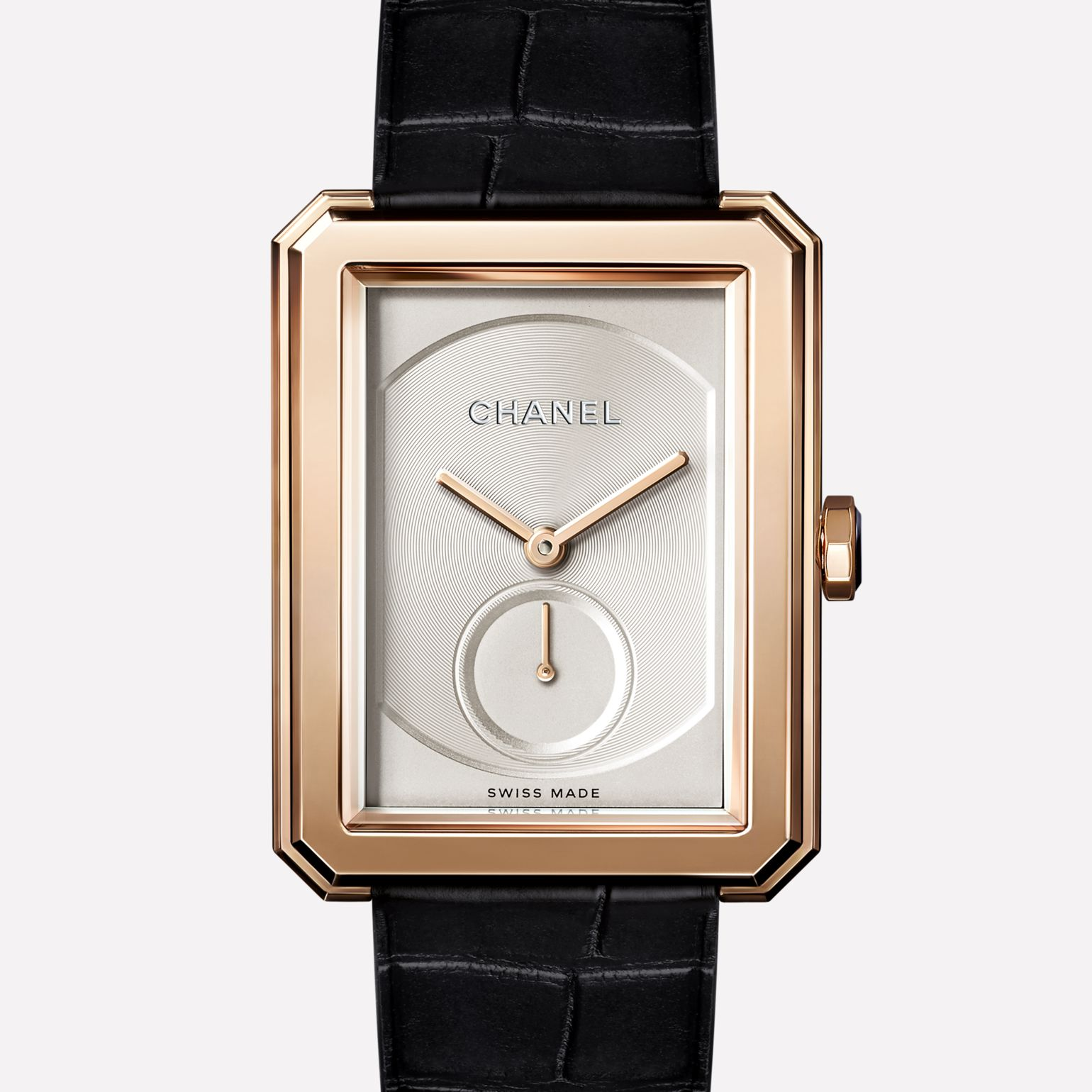 PREMIÈRE∙BOY DE CHANEL Large version, BEIGE GOLD and alligator strap