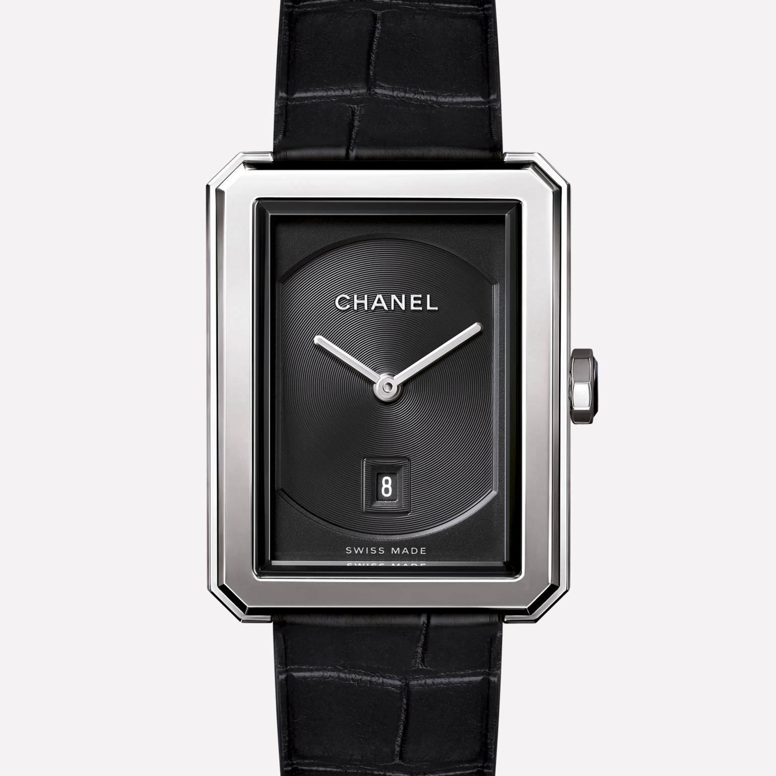 PREMIÈRE∙BOY DE CHANEL Medium version, steel and alligator strap