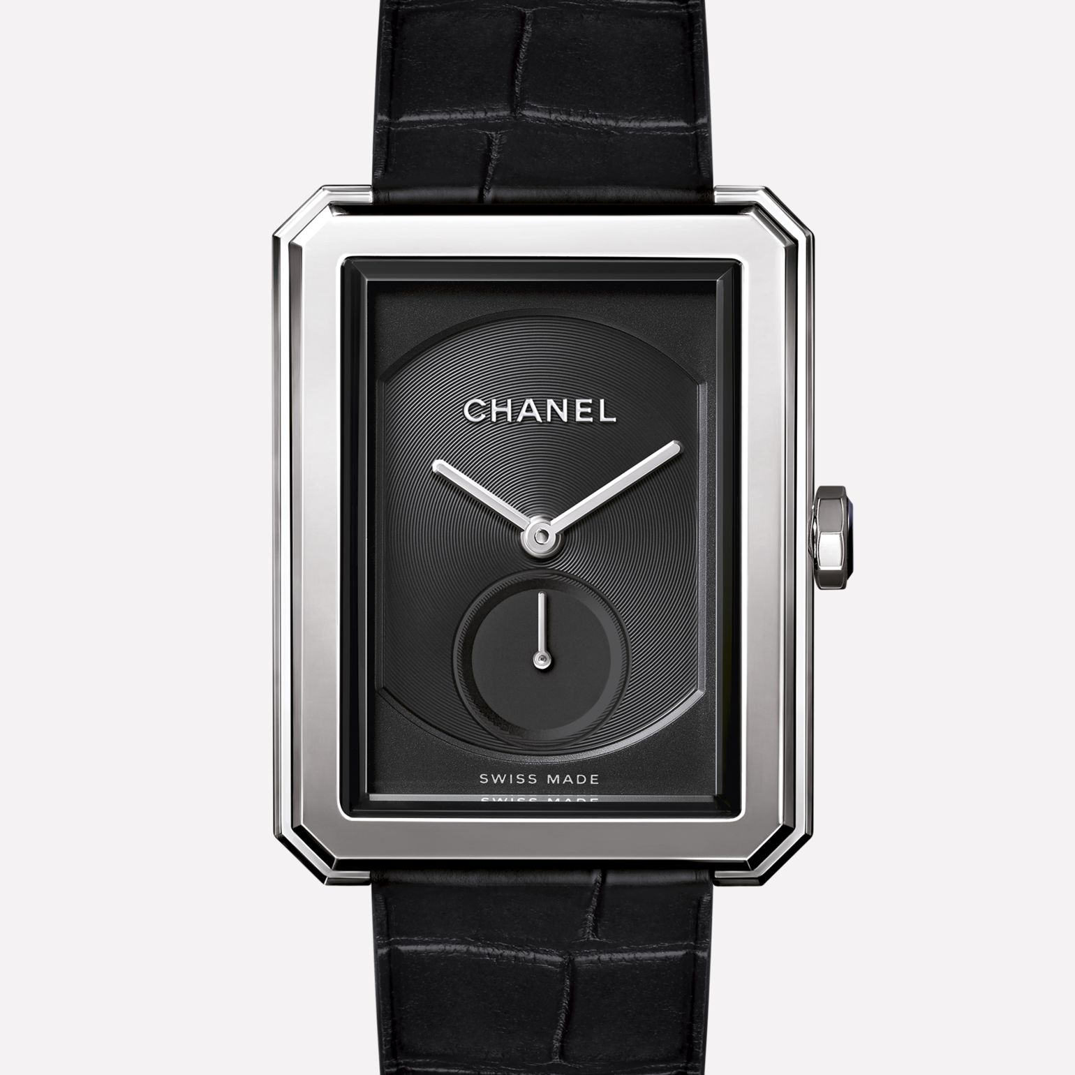 PREMIÈRE·BOY DE CHANEL Large version, steel and alligator strap