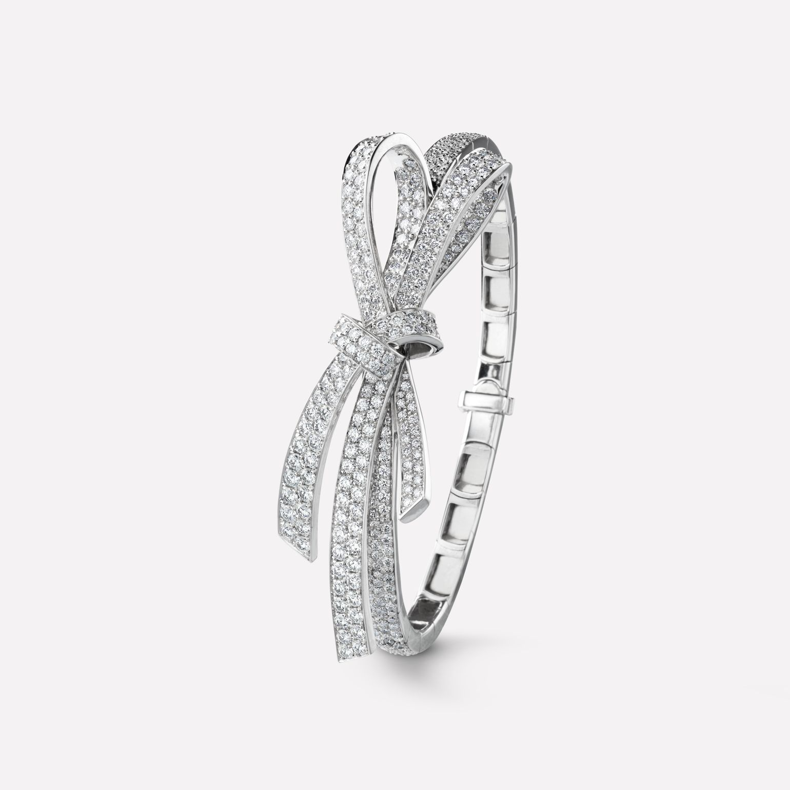 Ruban Ring Ruban bracelet in 18K white gold and diamonds