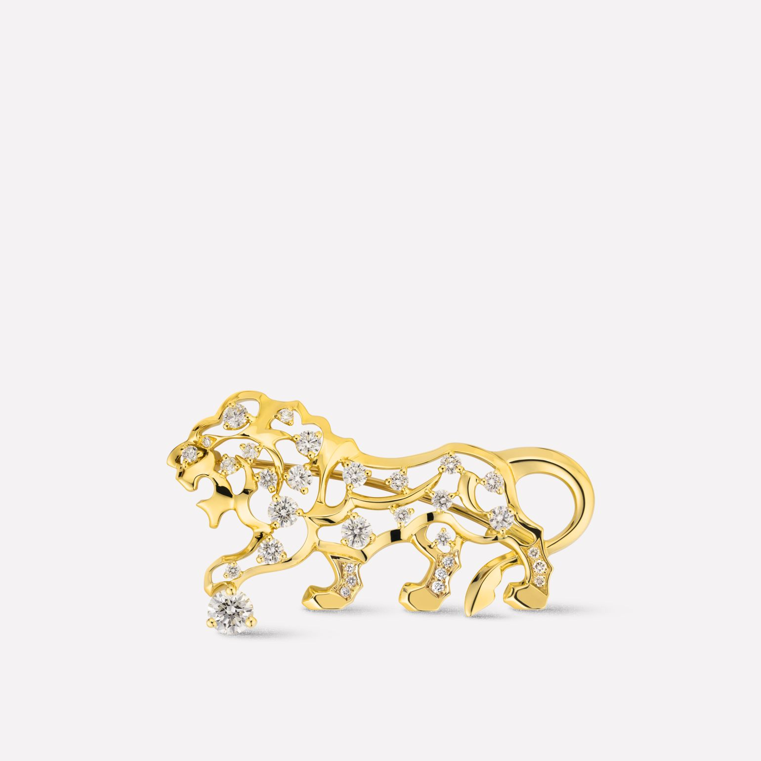 Sous le Signe du Lion brooch 18K yellow gold, diamonds
