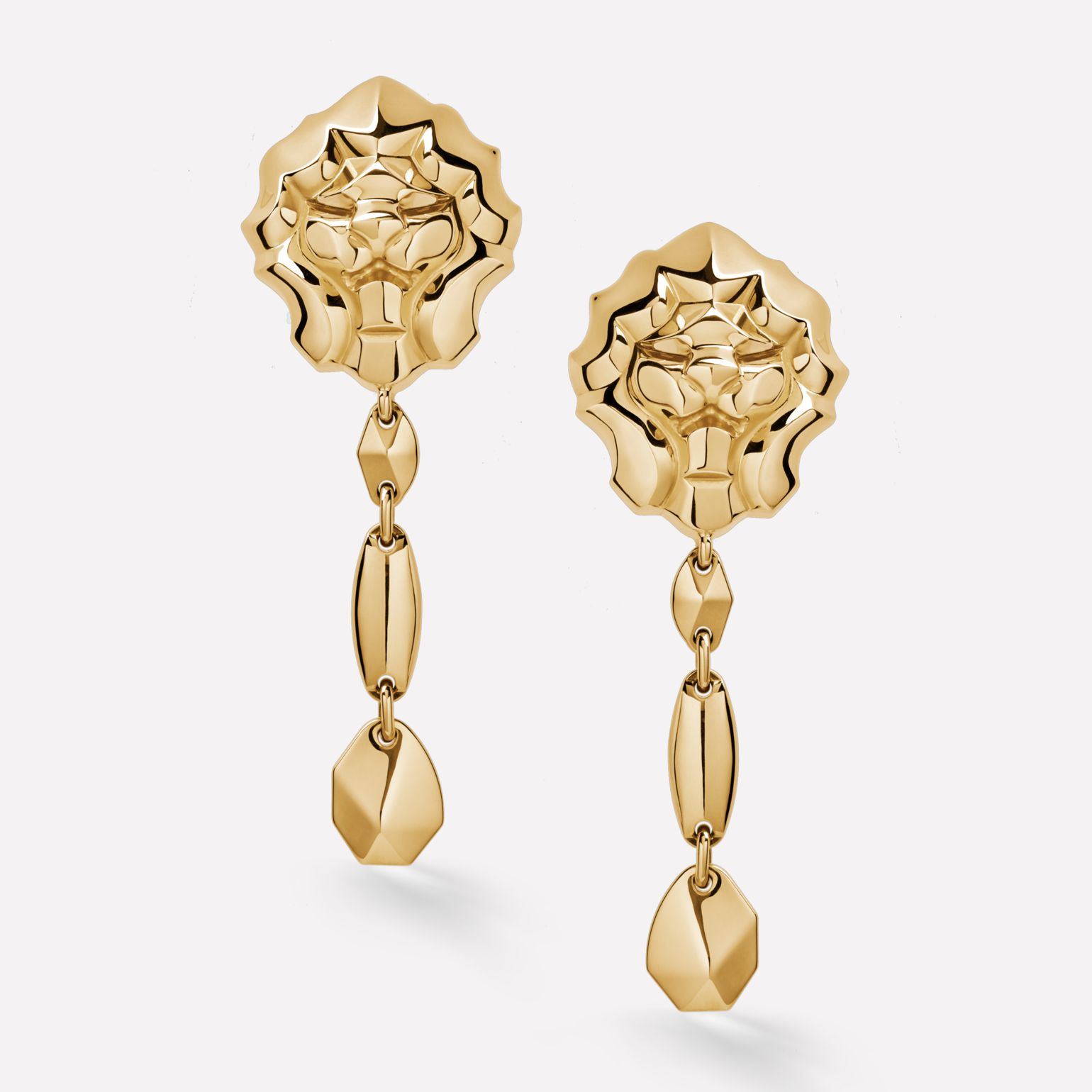 Sous le Signe du Lion Earrings Lion earrings in 18K yellow gold