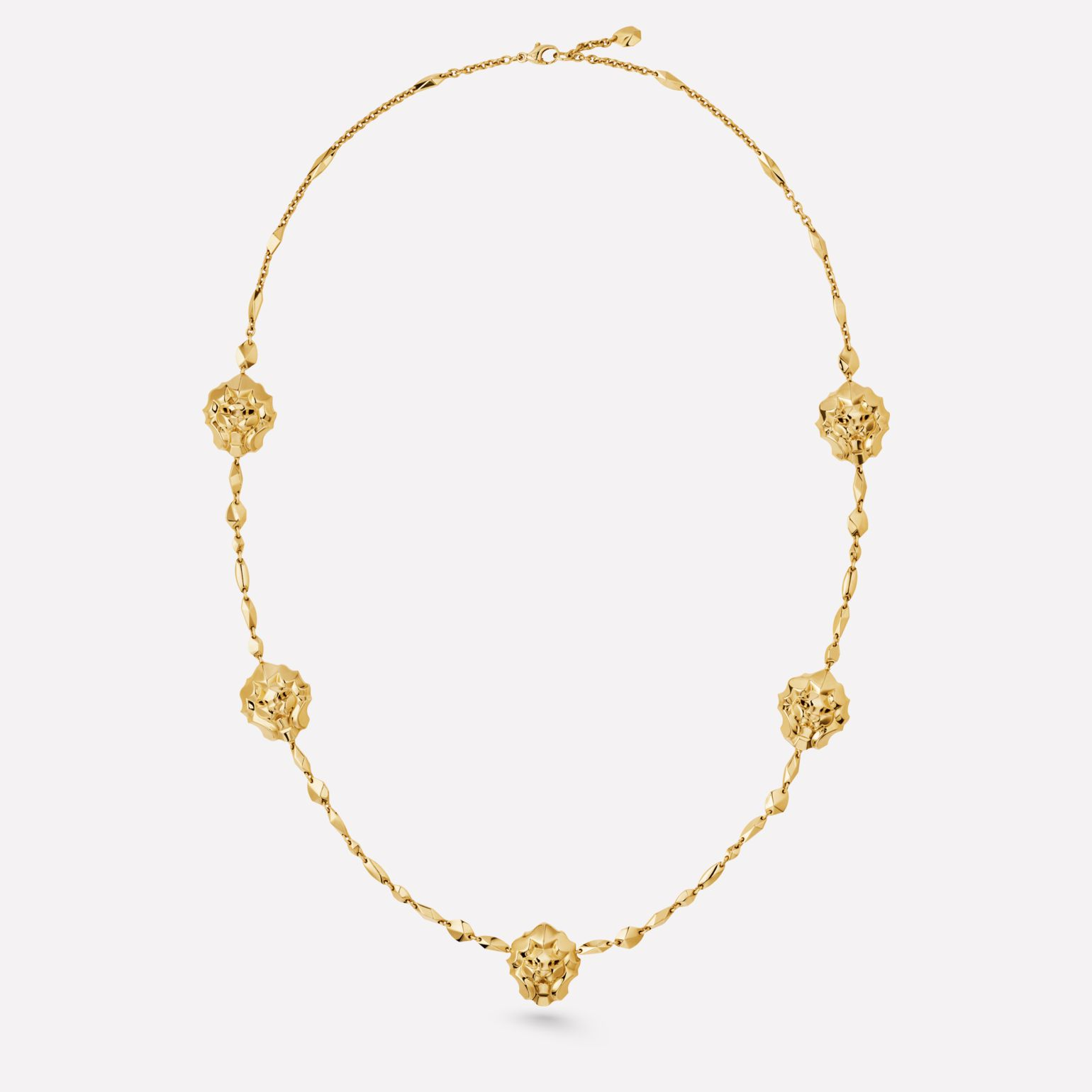 Sous le Signe du Lion Necklace Lion sautoir in 18K yellow gold