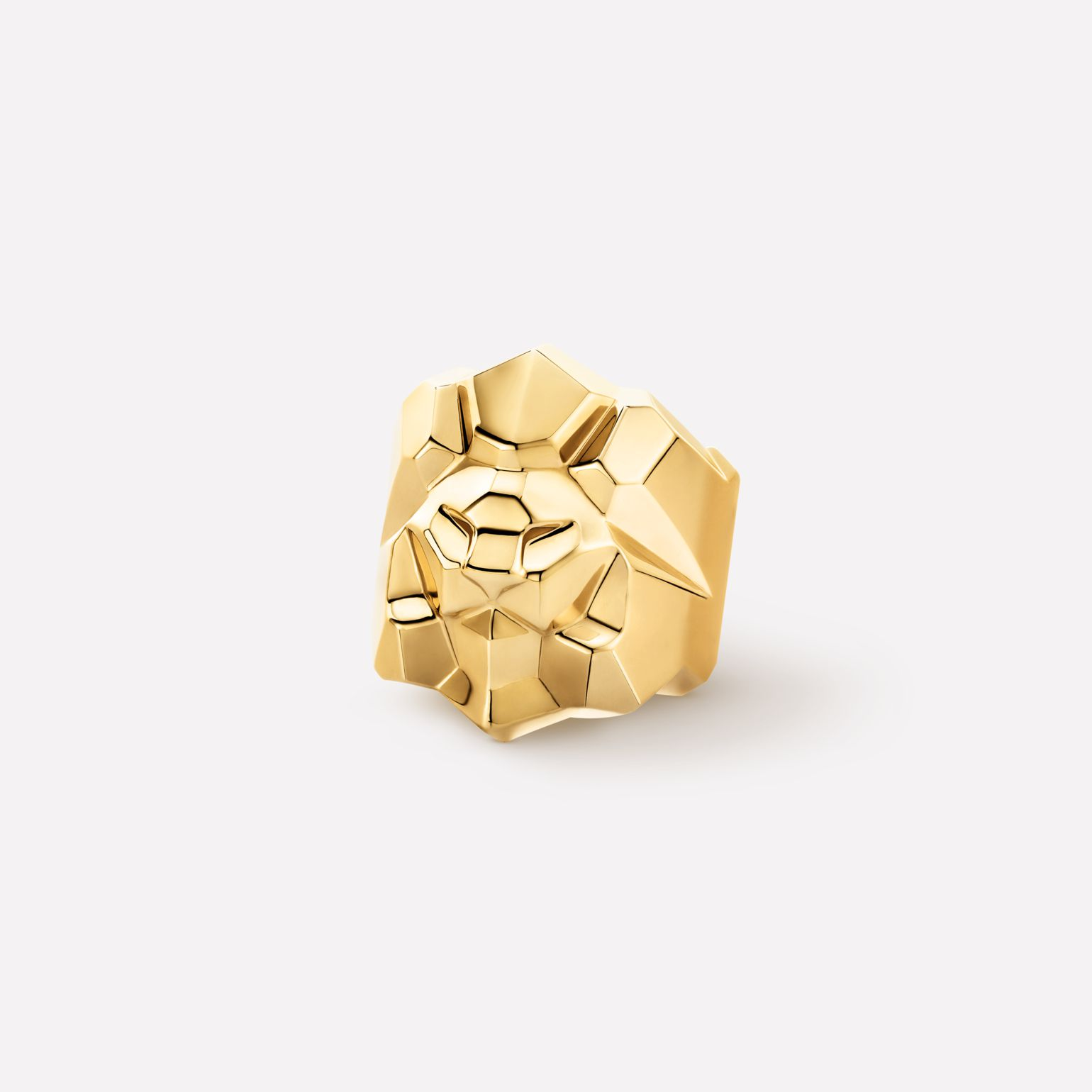 Sous le Signe du Lion Ring Lion ring in 18K yellow gold
