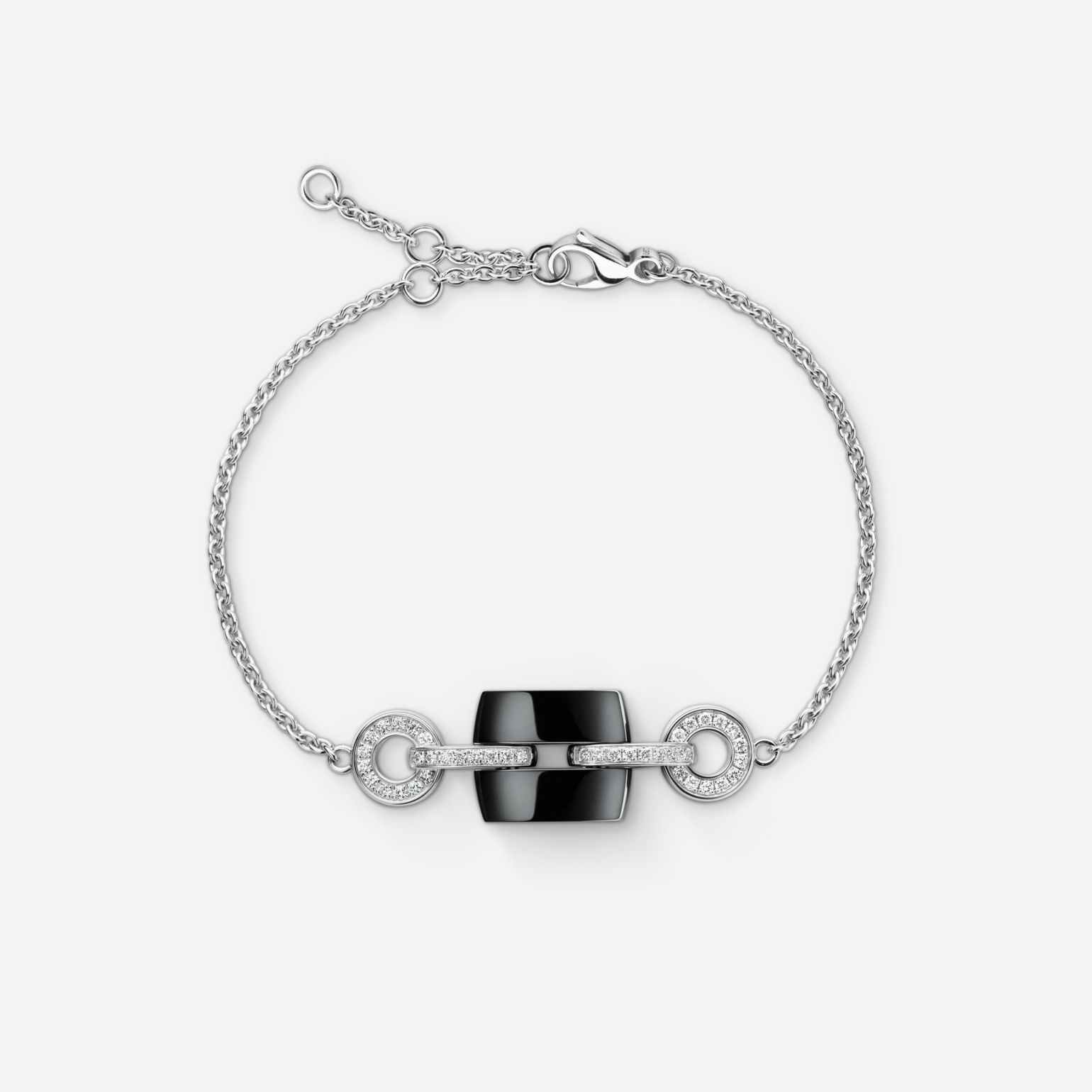 Ultra Bracelet Ultra bracelet in black ceramic, 18K white gold and diamonds
