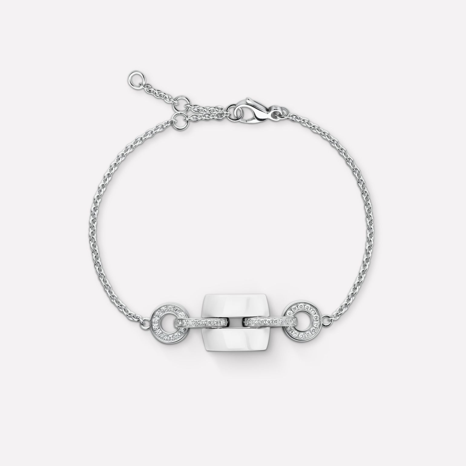 Ultra Bracelet Ultra bracelet in white ceramic, 18K white gold and diamonds