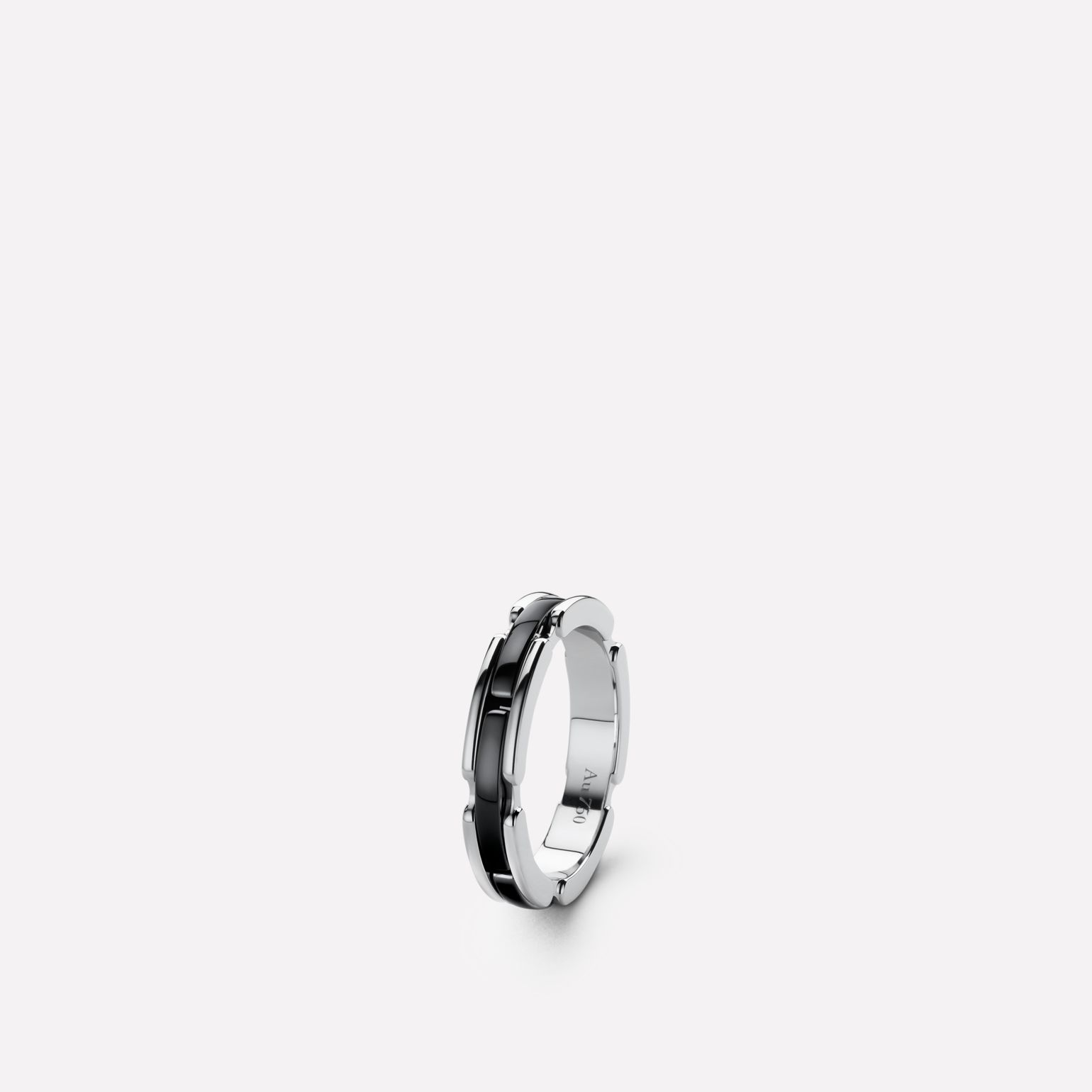 Ultra Ring Ultra ring in black ceramic and 18K white gold